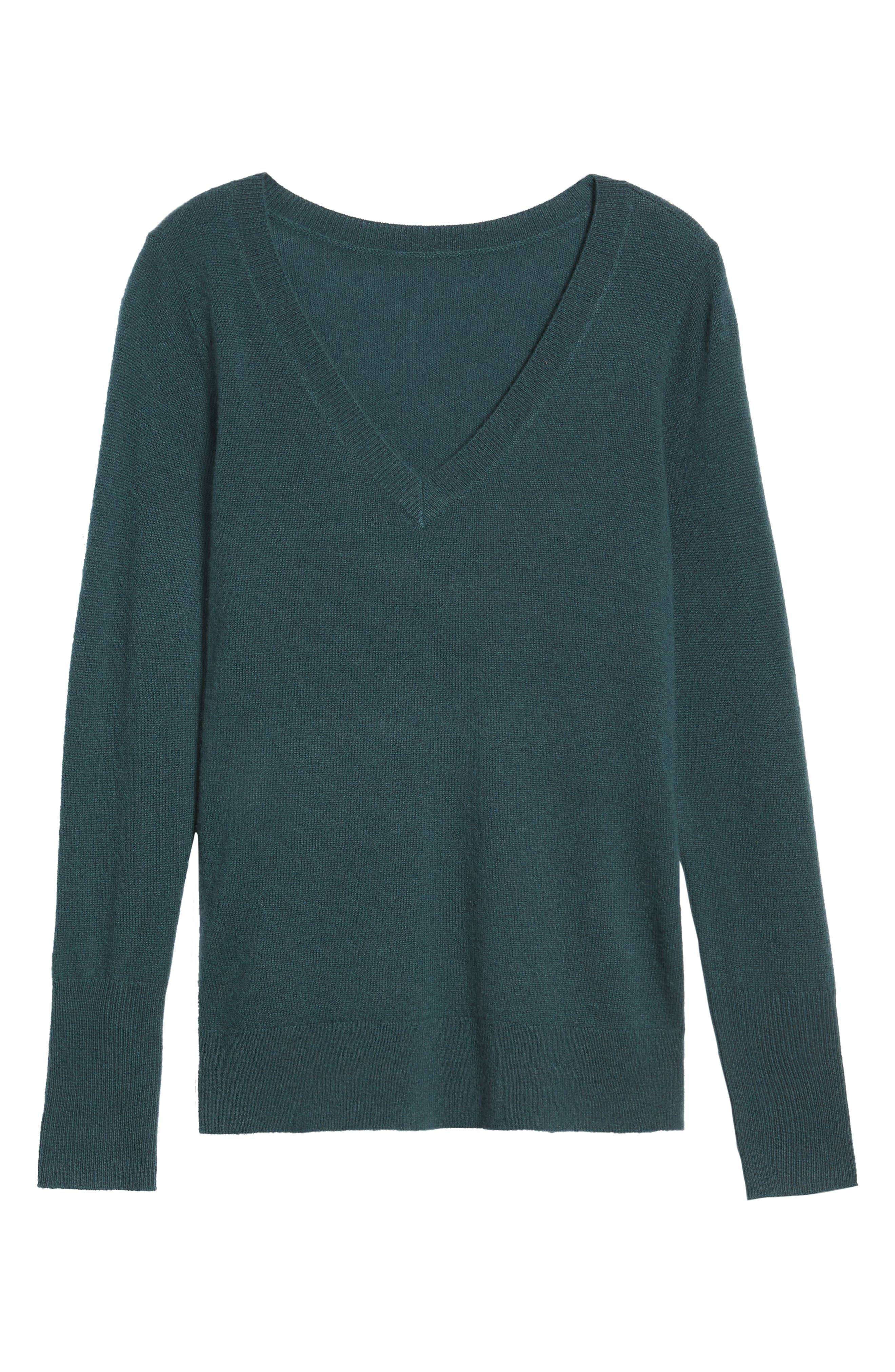 V-Neck Cashmere Sweater,                             Alternate thumbnail 90, color,