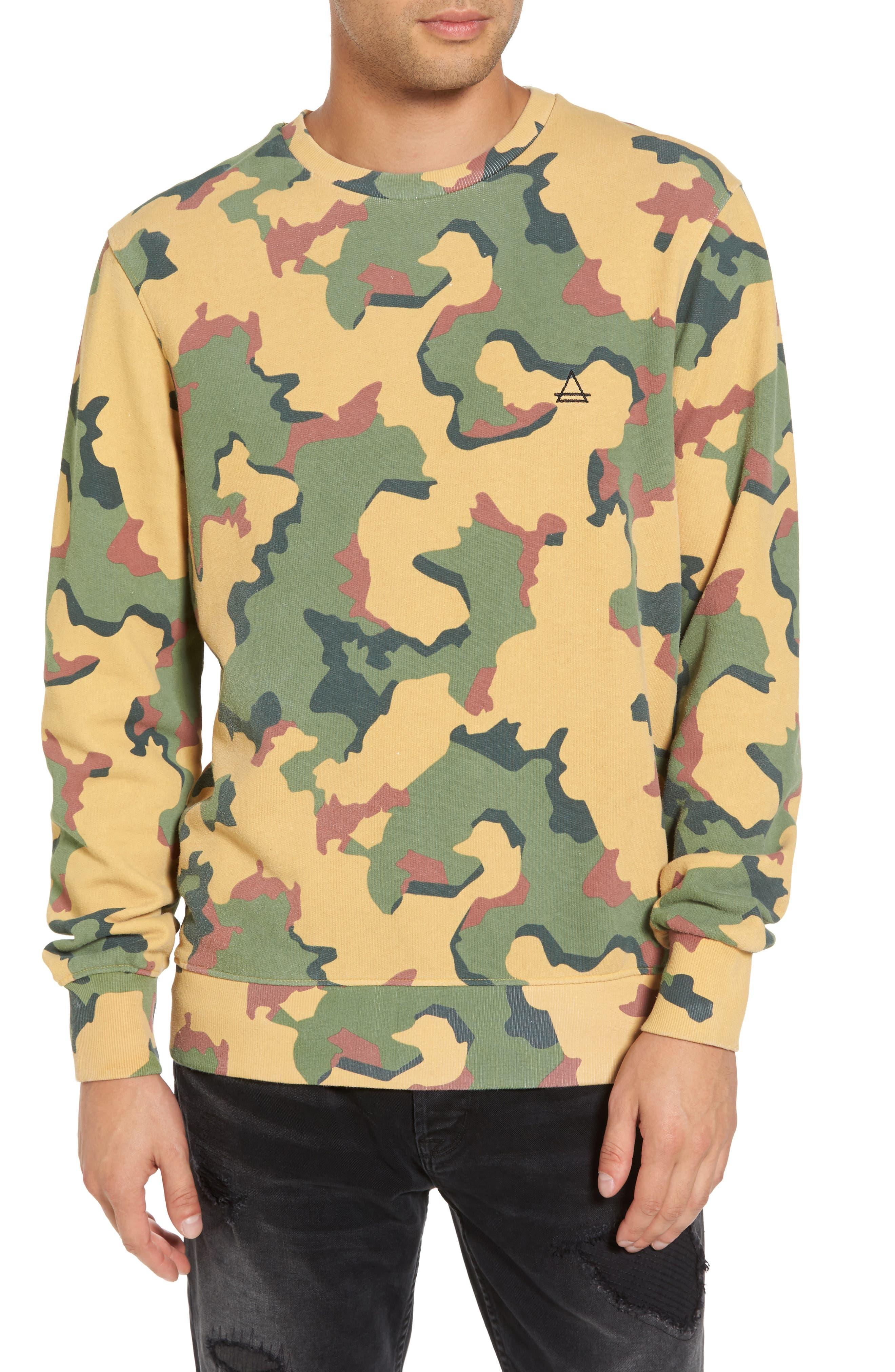 Anatole Camo Fleece Sweatshirt,                             Main thumbnail 1, color,