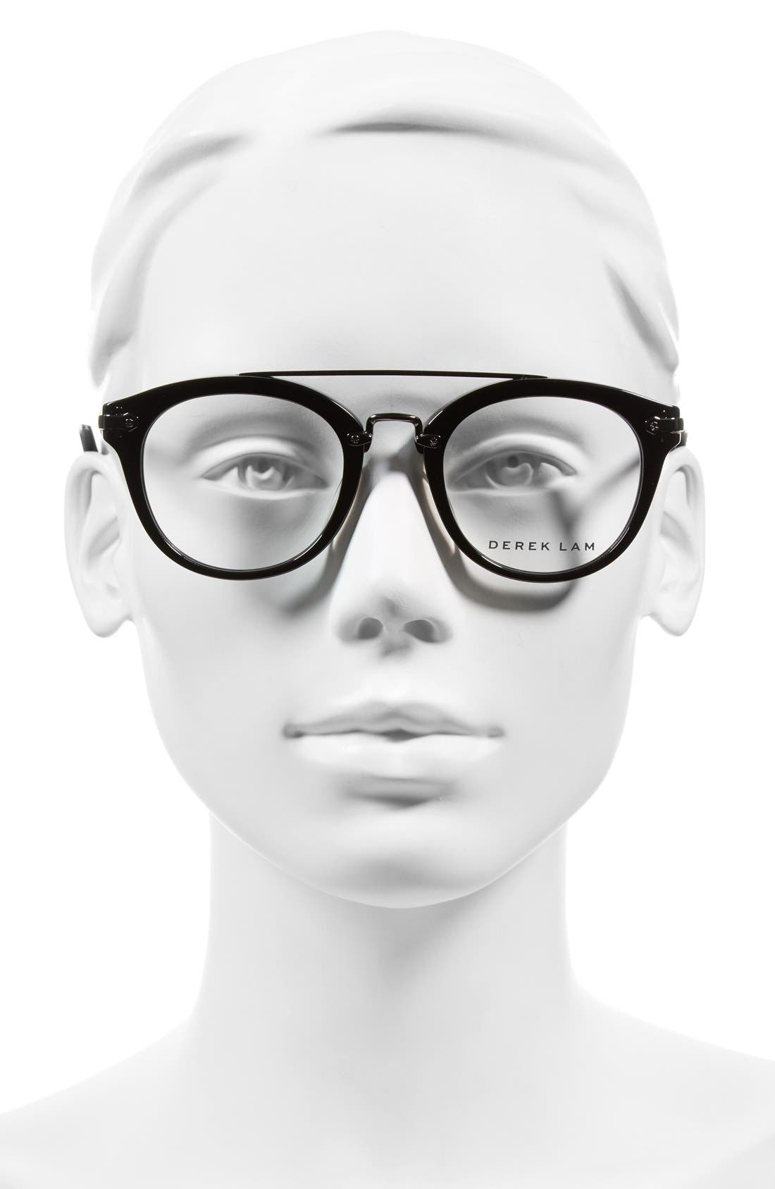 49mm Aviator Sunglasses,                             Alternate thumbnail 2, color,                             BLACK
