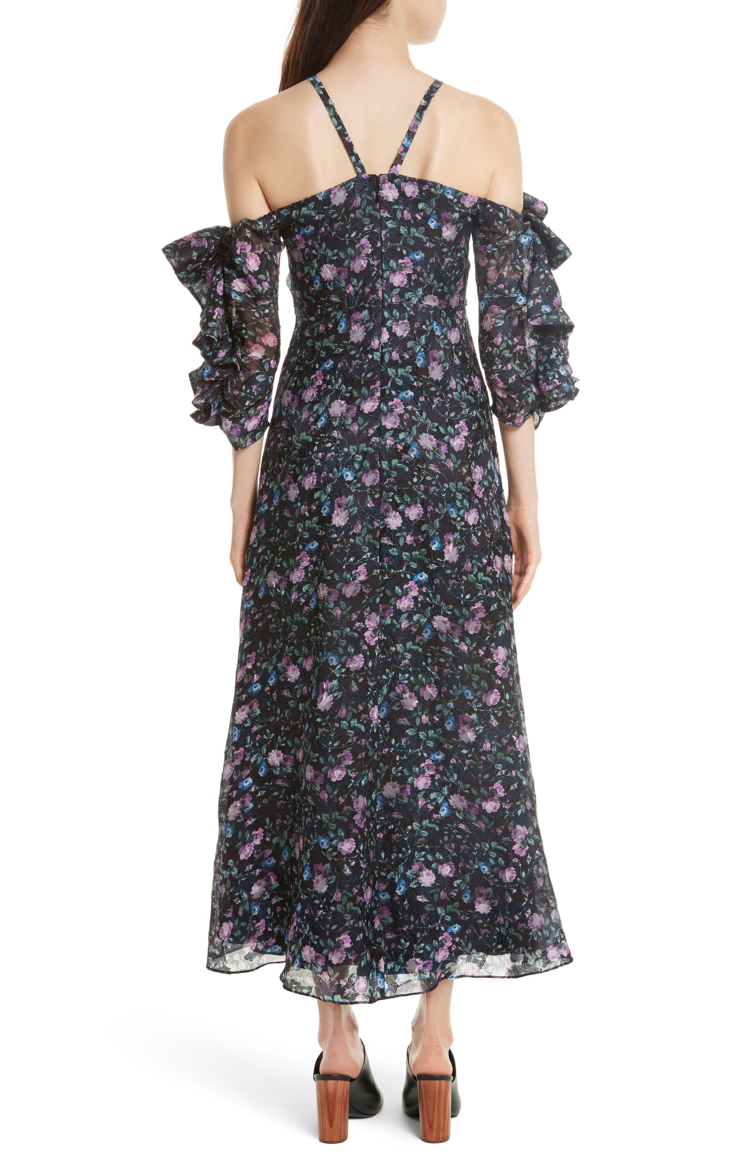 Ruby Organza Midi Dress,                             Alternate thumbnail 2, color,                             497