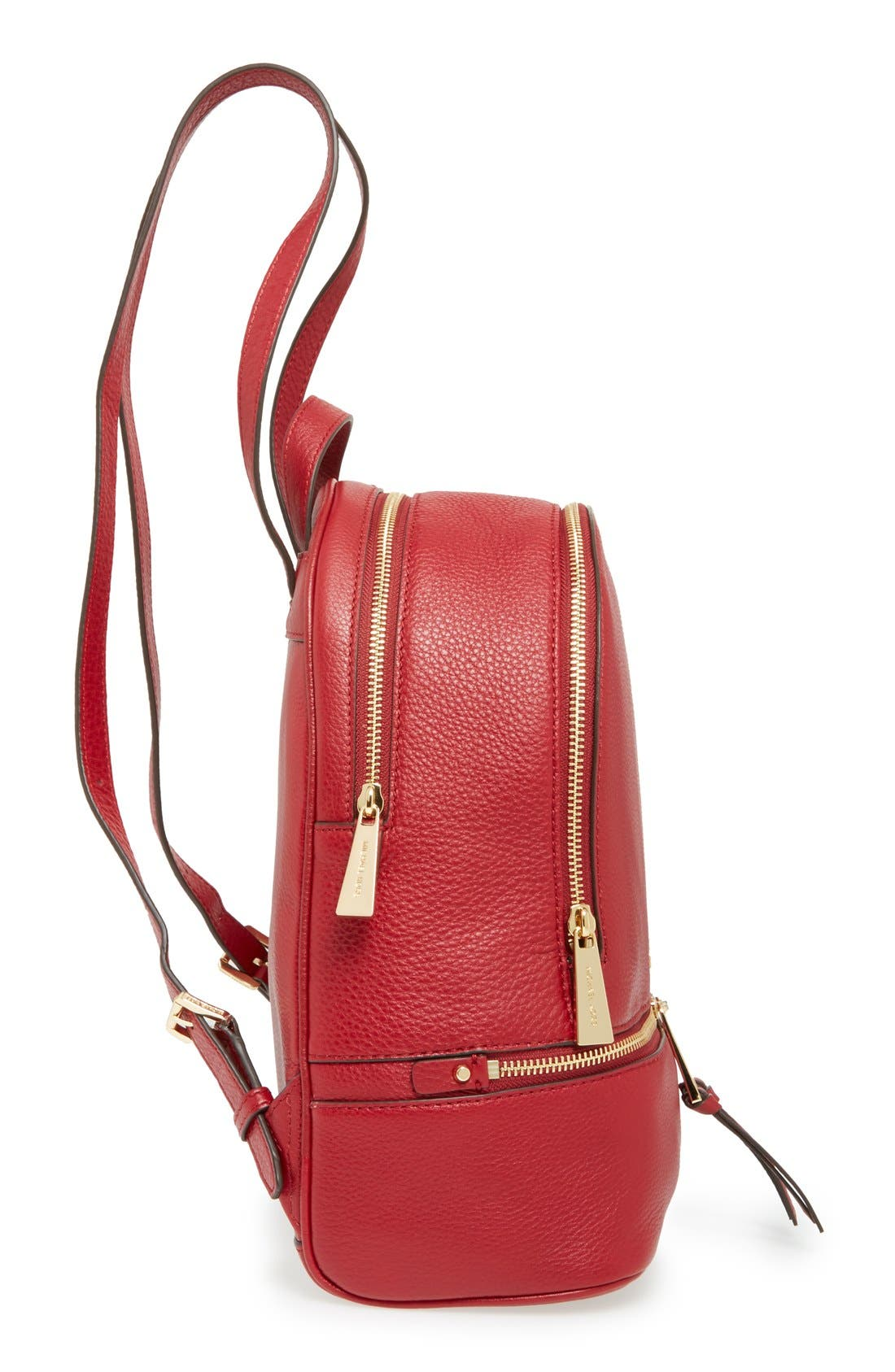 'Extra Small Rhea Zip' Leather Backpack,                             Alternate thumbnail 43, color,