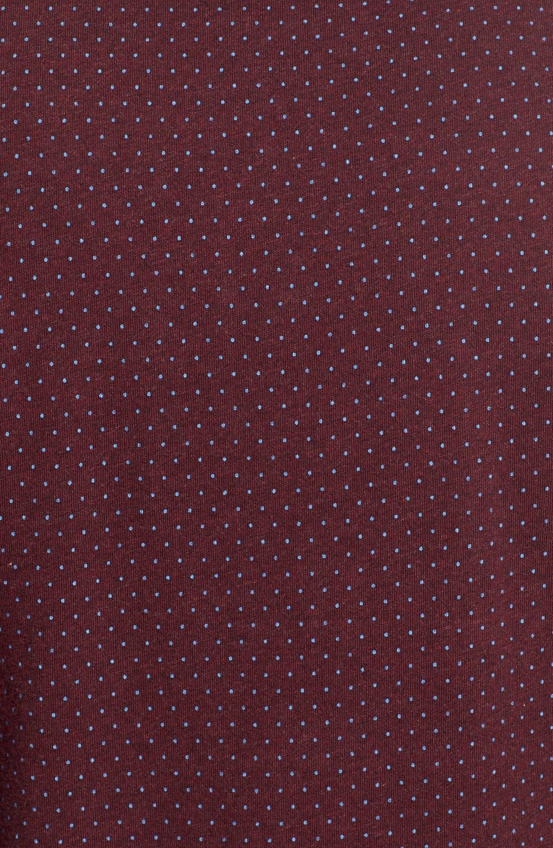 'Reworkd' Trim Fit Dot Print Mixed Media Sport Shirt,                             Alternate thumbnail 16, color,