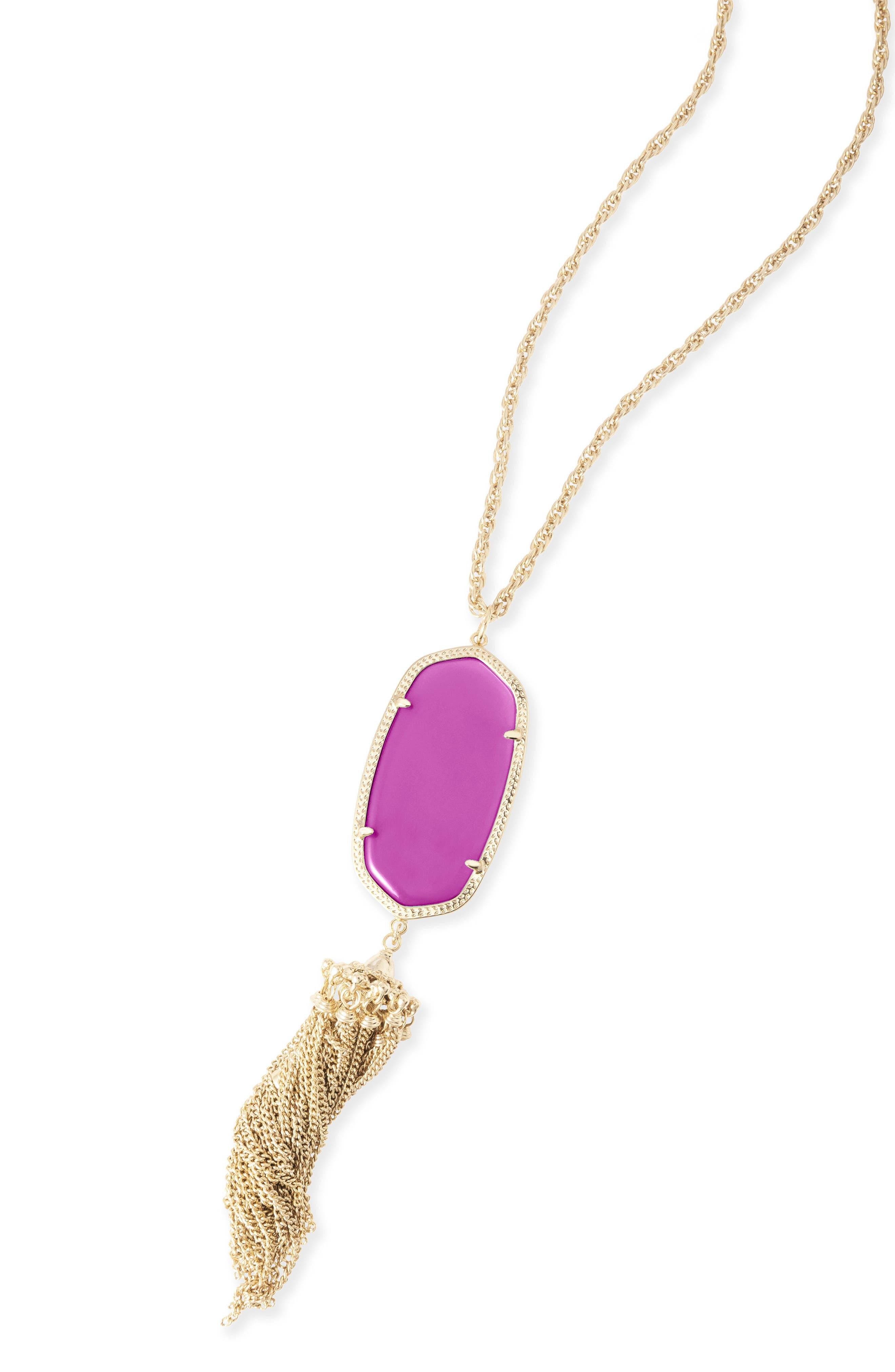 Rayne Stone Tassel Pendant Necklace,                             Alternate thumbnail 320, color,