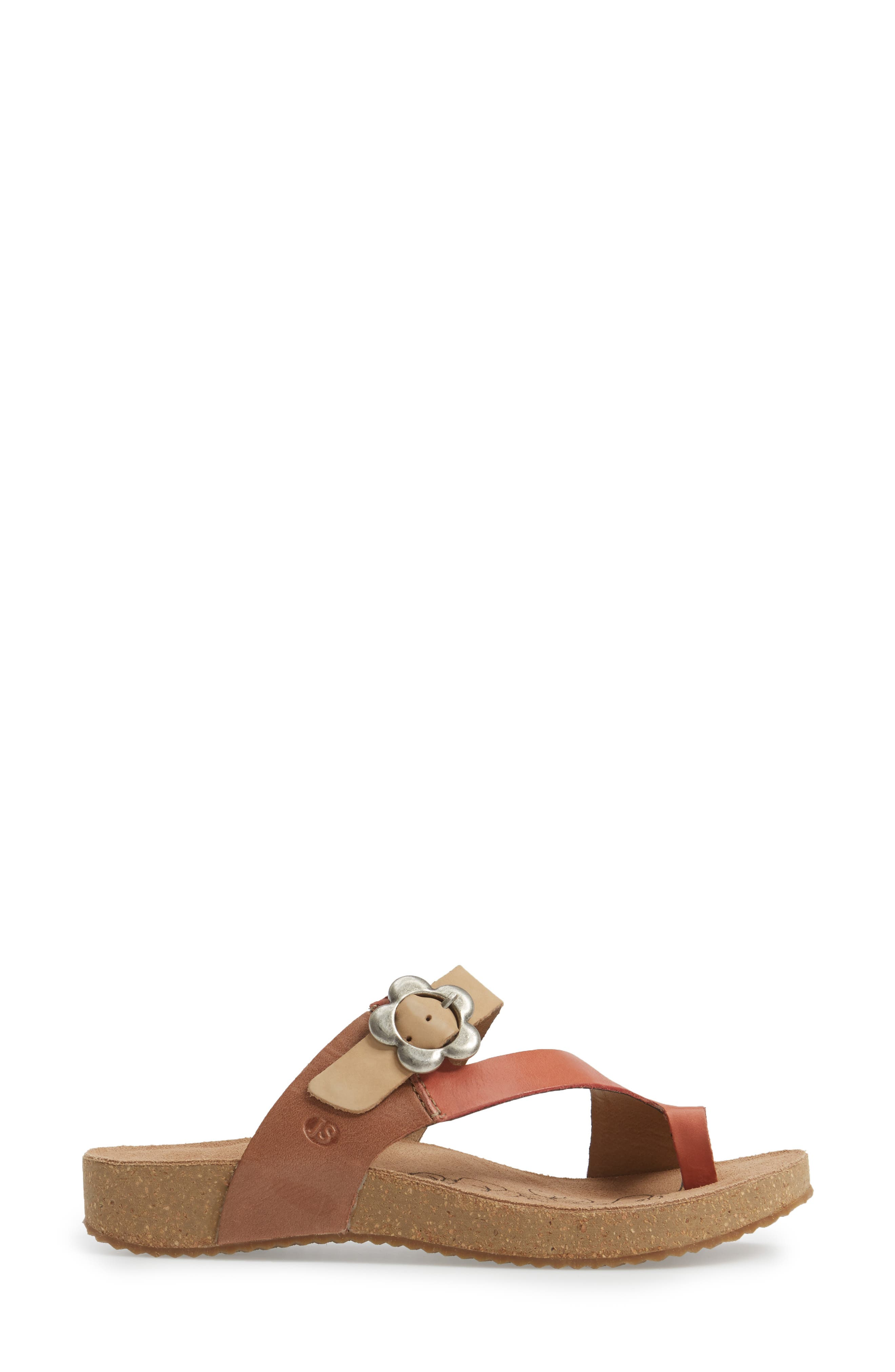 Tonga 23 Sandal,                             Alternate thumbnail 3, color,                             KORALLE MULTI LEATHER