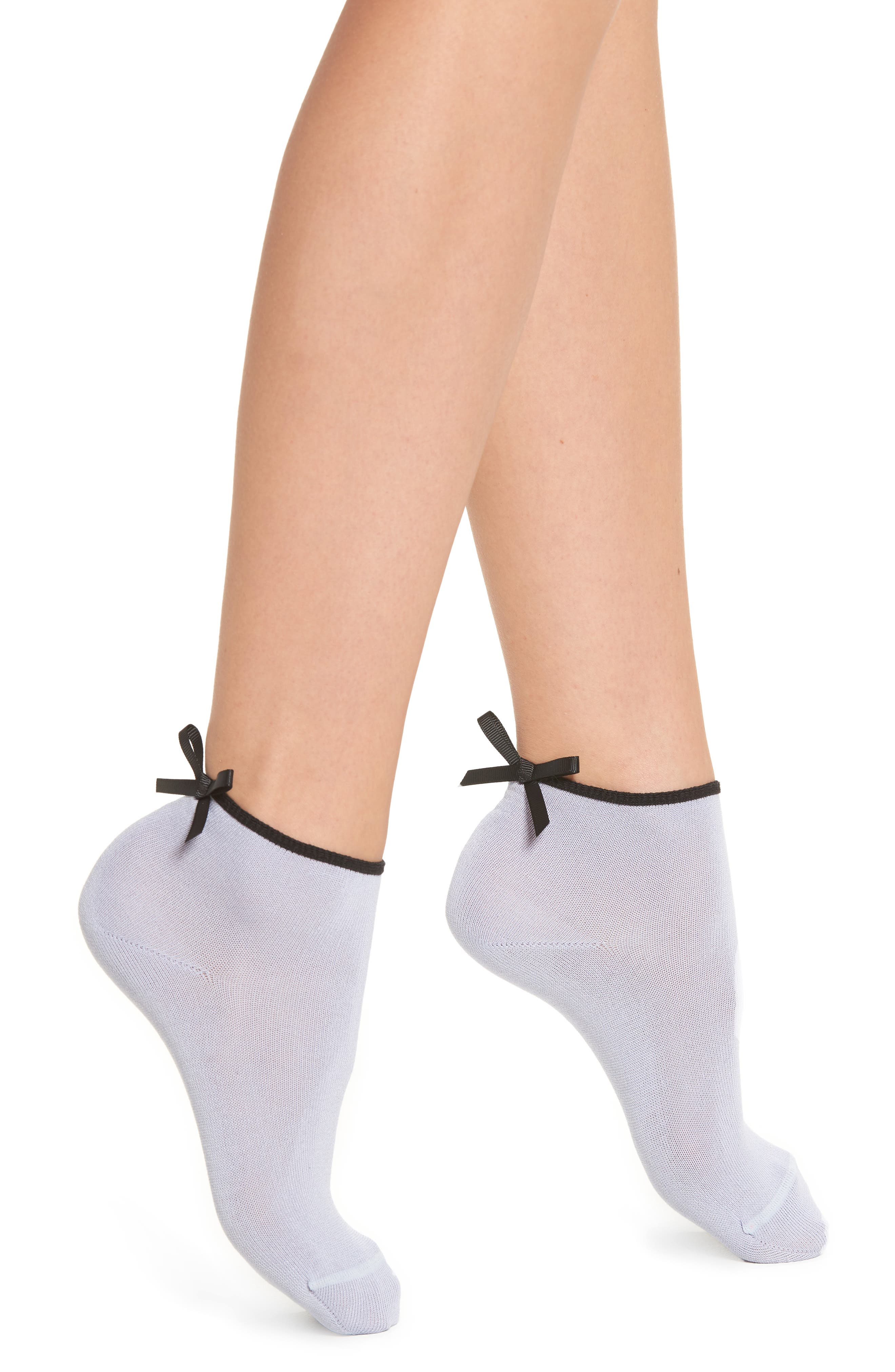 Bow Back Ankle Socks,                             Main thumbnail 1, color,                             PERIWINKLE
