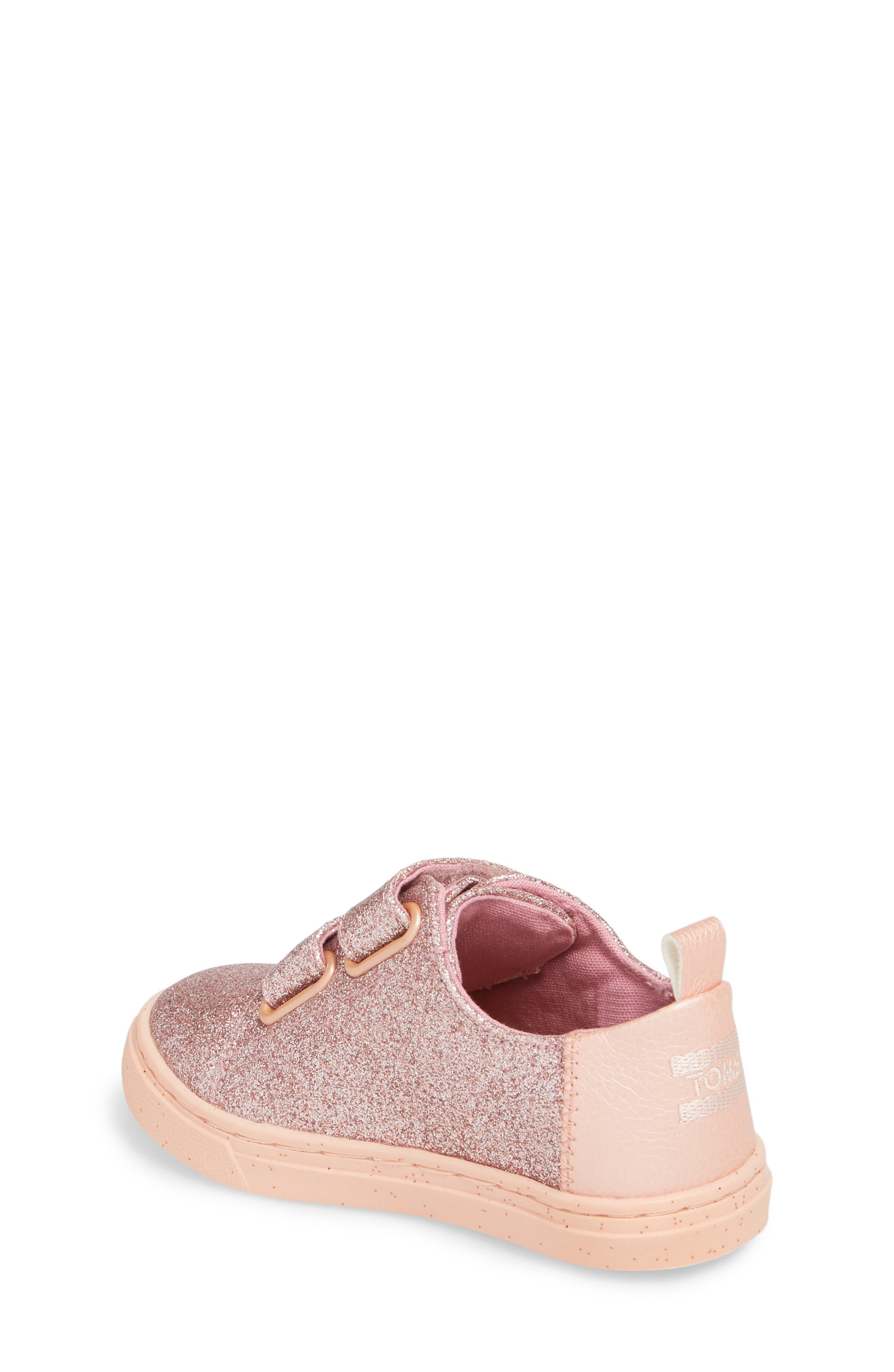 Lenny Metallic Glitter Sneaker,                             Alternate thumbnail 2, color,                             ROSE GOLD GLITTER