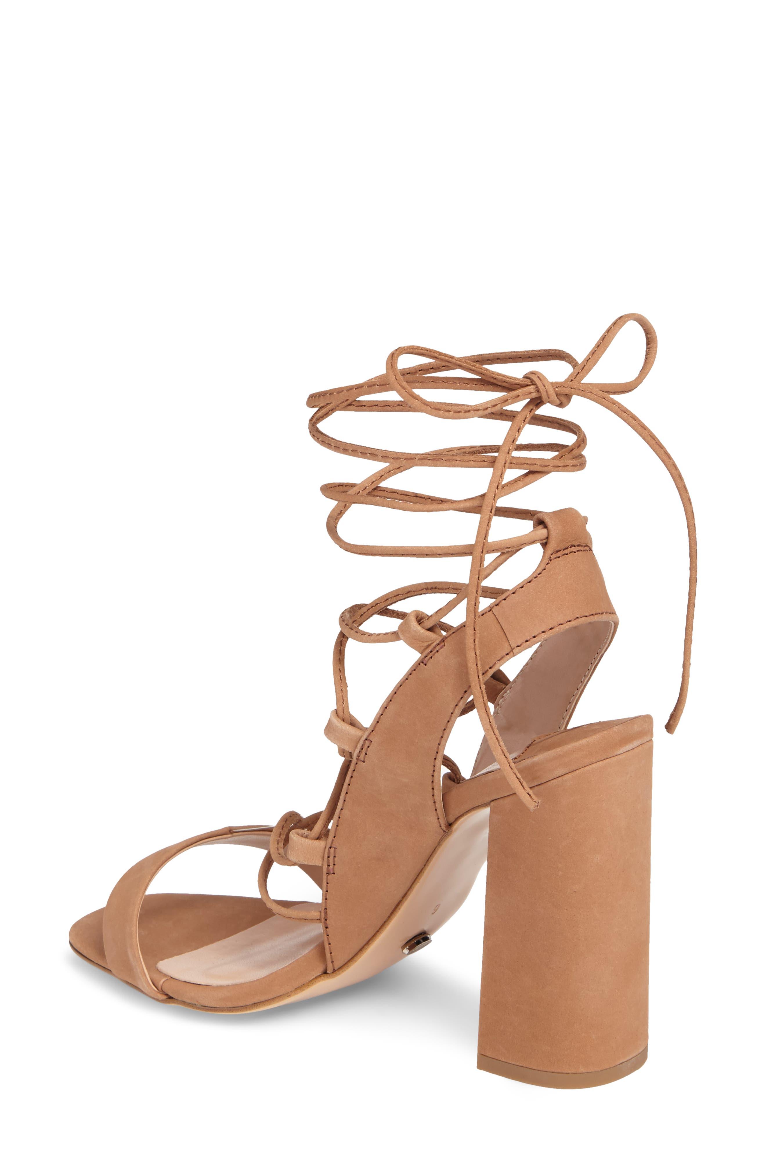 Dani Ghillie Flared Heel Sandal,                             Alternate thumbnail 4, color,