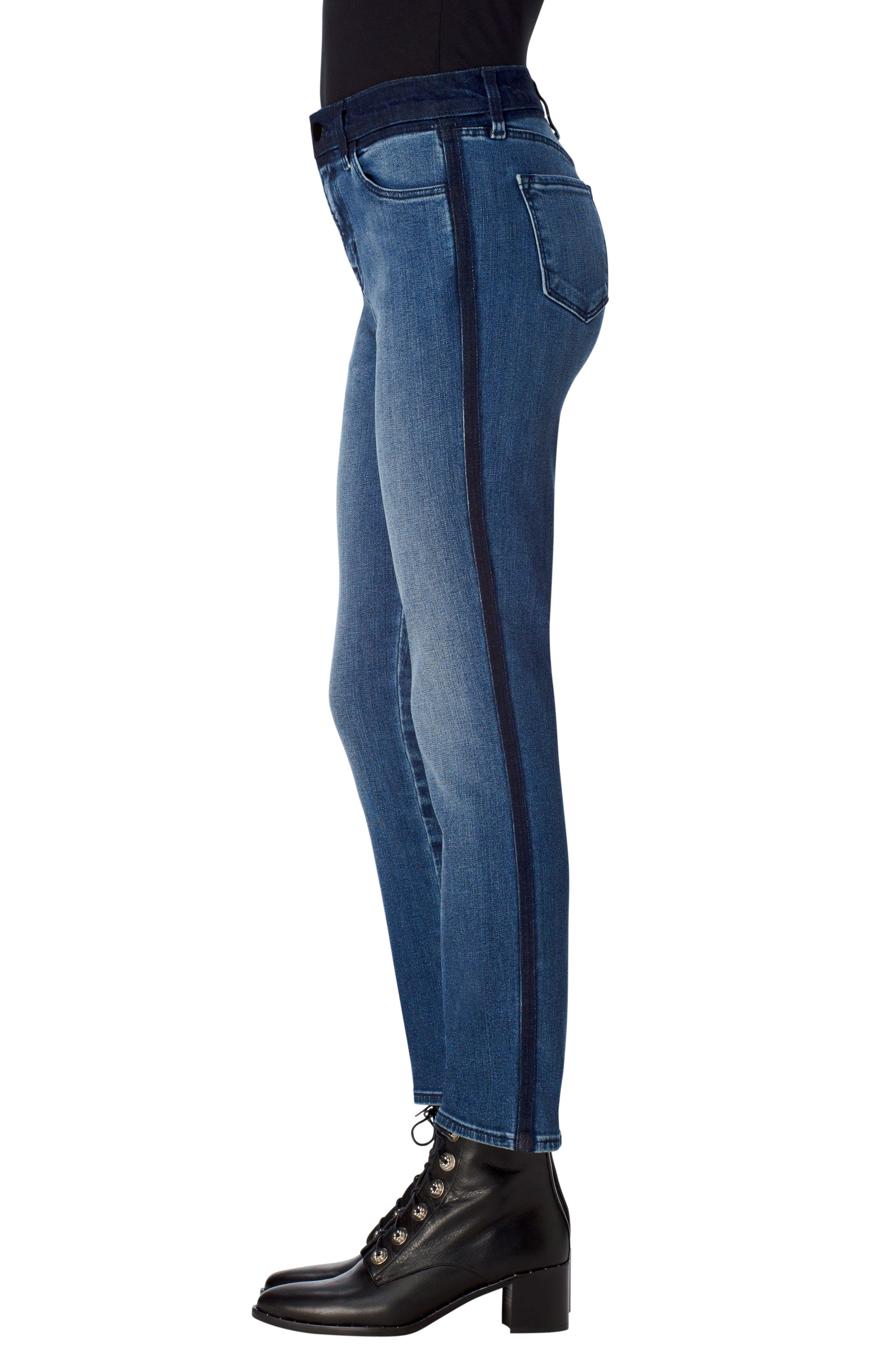 Ruby High Waist Crop Skinny Jeans,                             Alternate thumbnail 3, color,                             470
