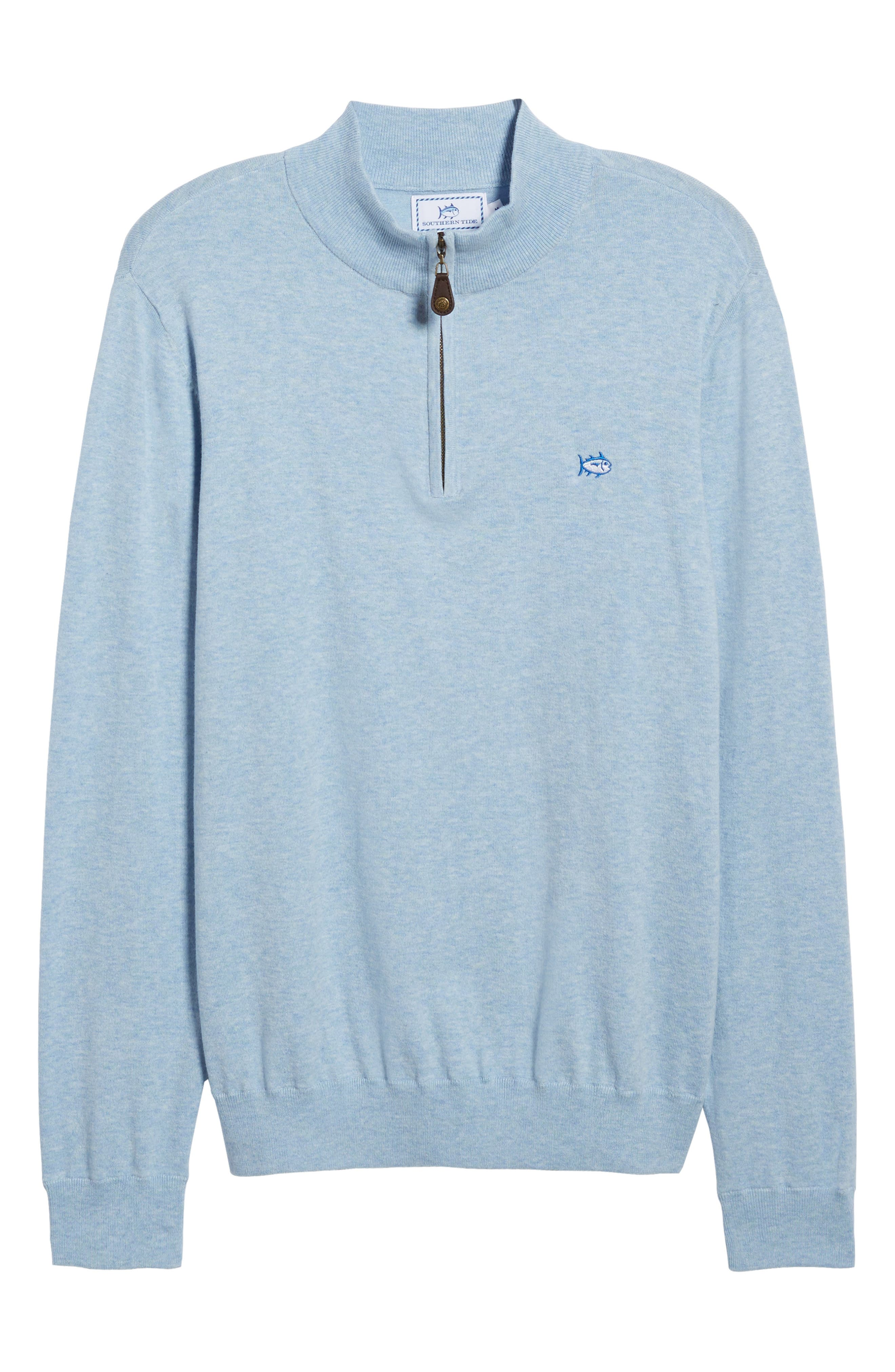 Marina Cay Quarter Zip Pullover,                             Alternate thumbnail 6, color,                             OCEAN CHANNEL