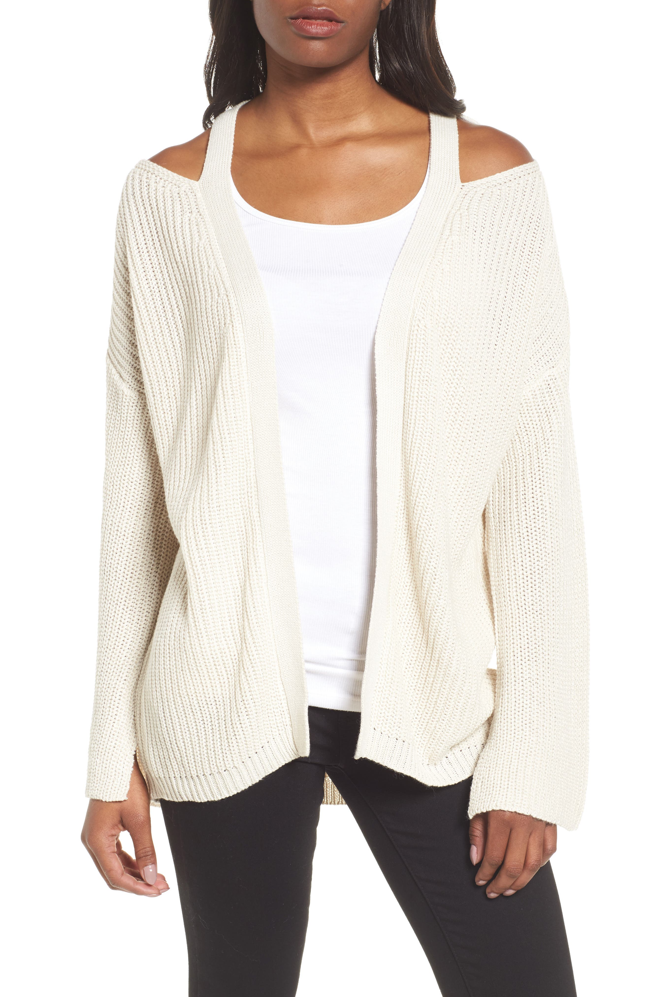 Cutout Cardigan,                             Main thumbnail 3, color,