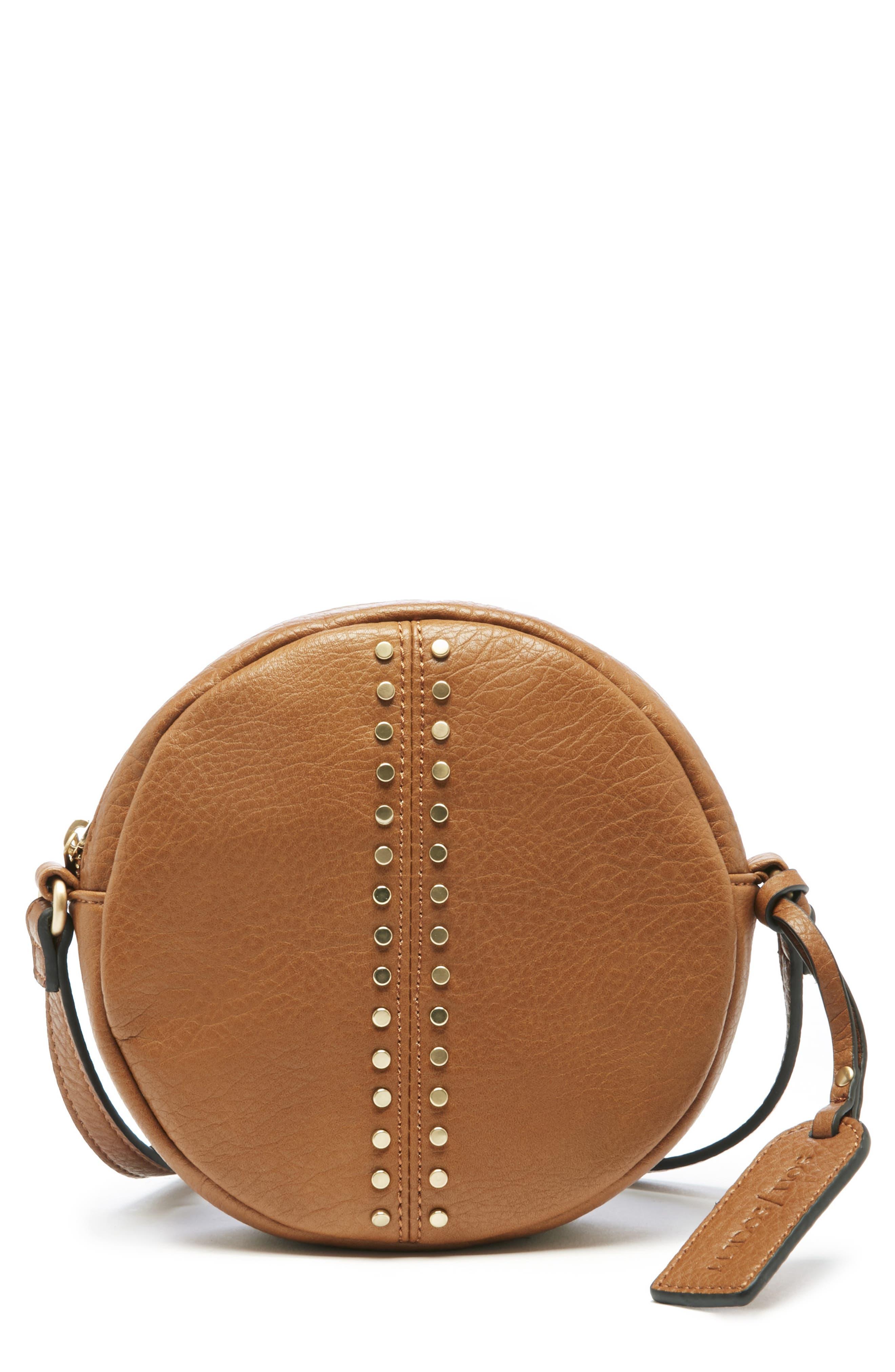 Bayle Faux Leather Crossbody,                         Main,                         color, COGNAC