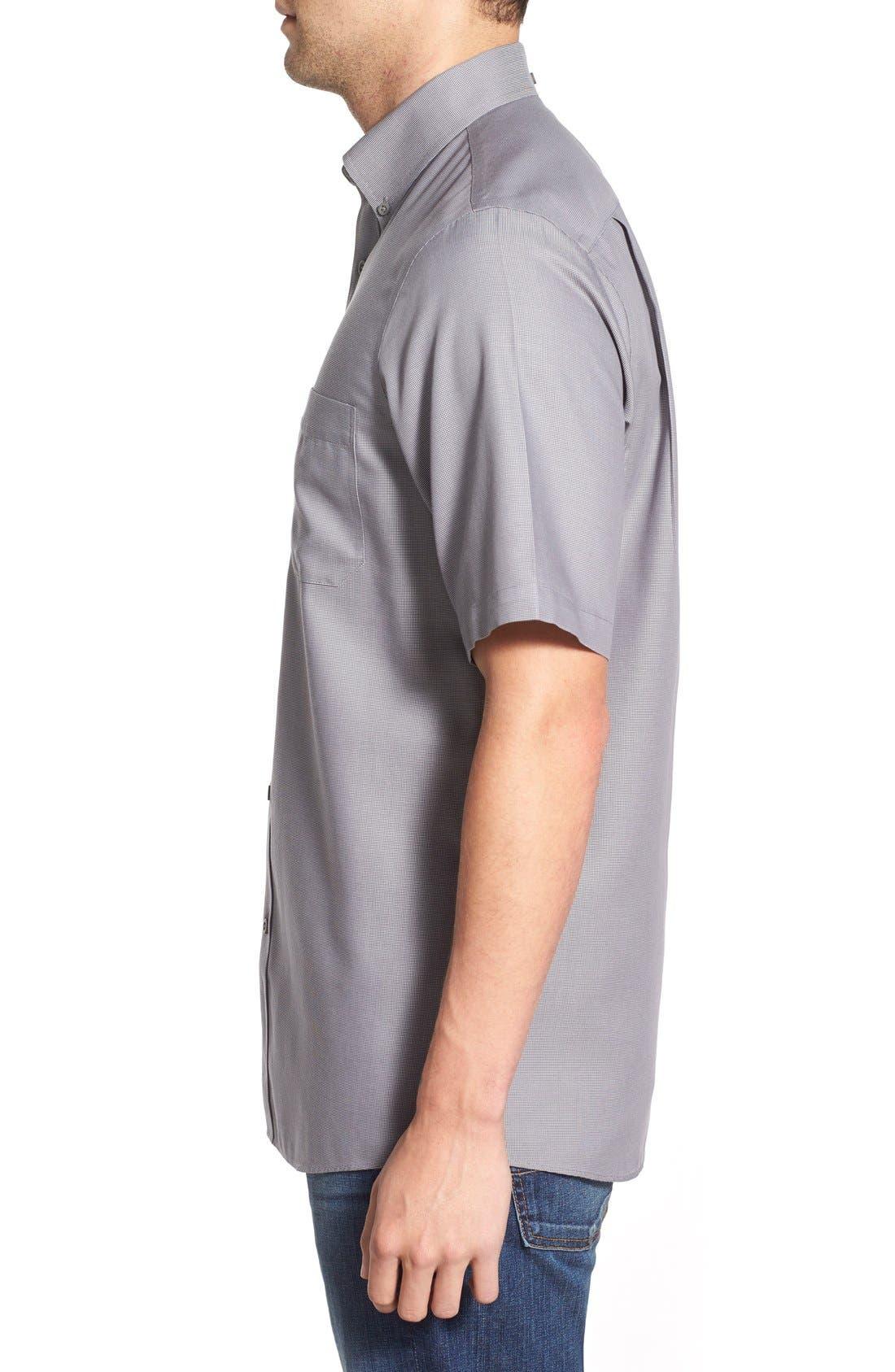 'Classic' Smartcare<sup>™</sup> Regular Fit Short Sleeve Cotton Sport Shirt,                             Alternate thumbnail 81, color,