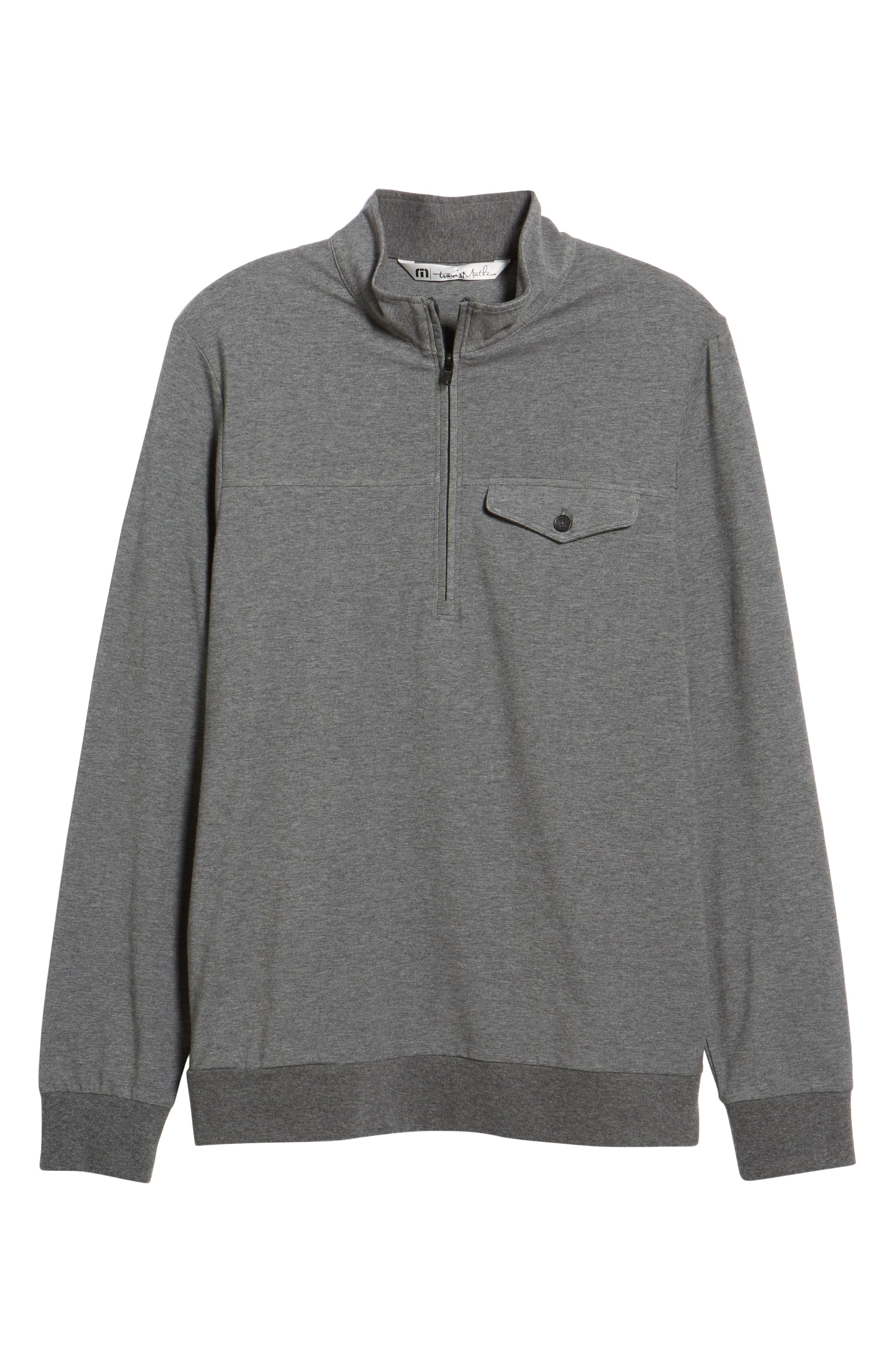 The 805 Half Zip Pullover,                             Alternate thumbnail 6, color,                             HEATHER DARK SHADOW