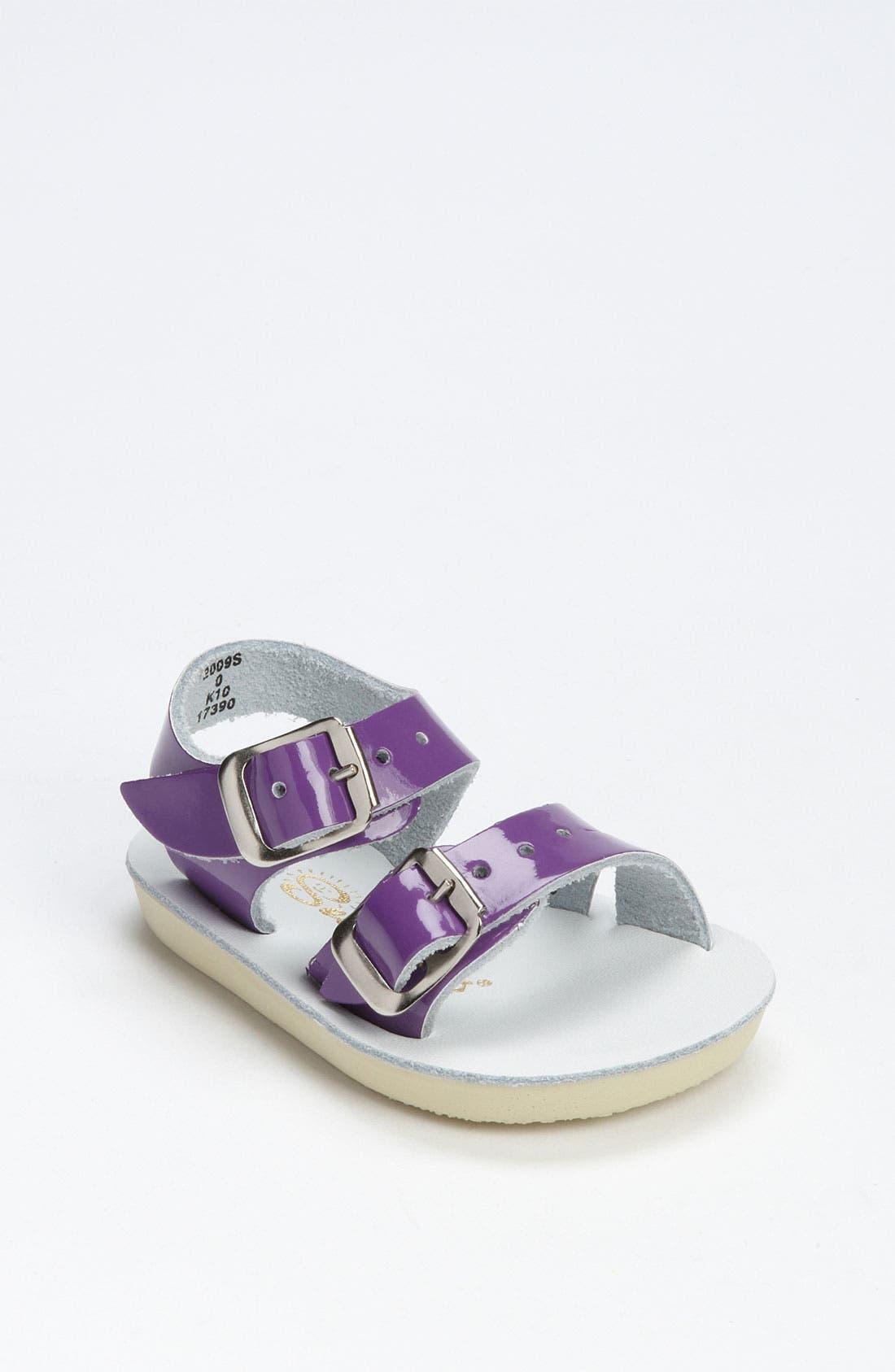 'Sea Wee' Sandal,                         Main,                         color, SHINY PURPLE