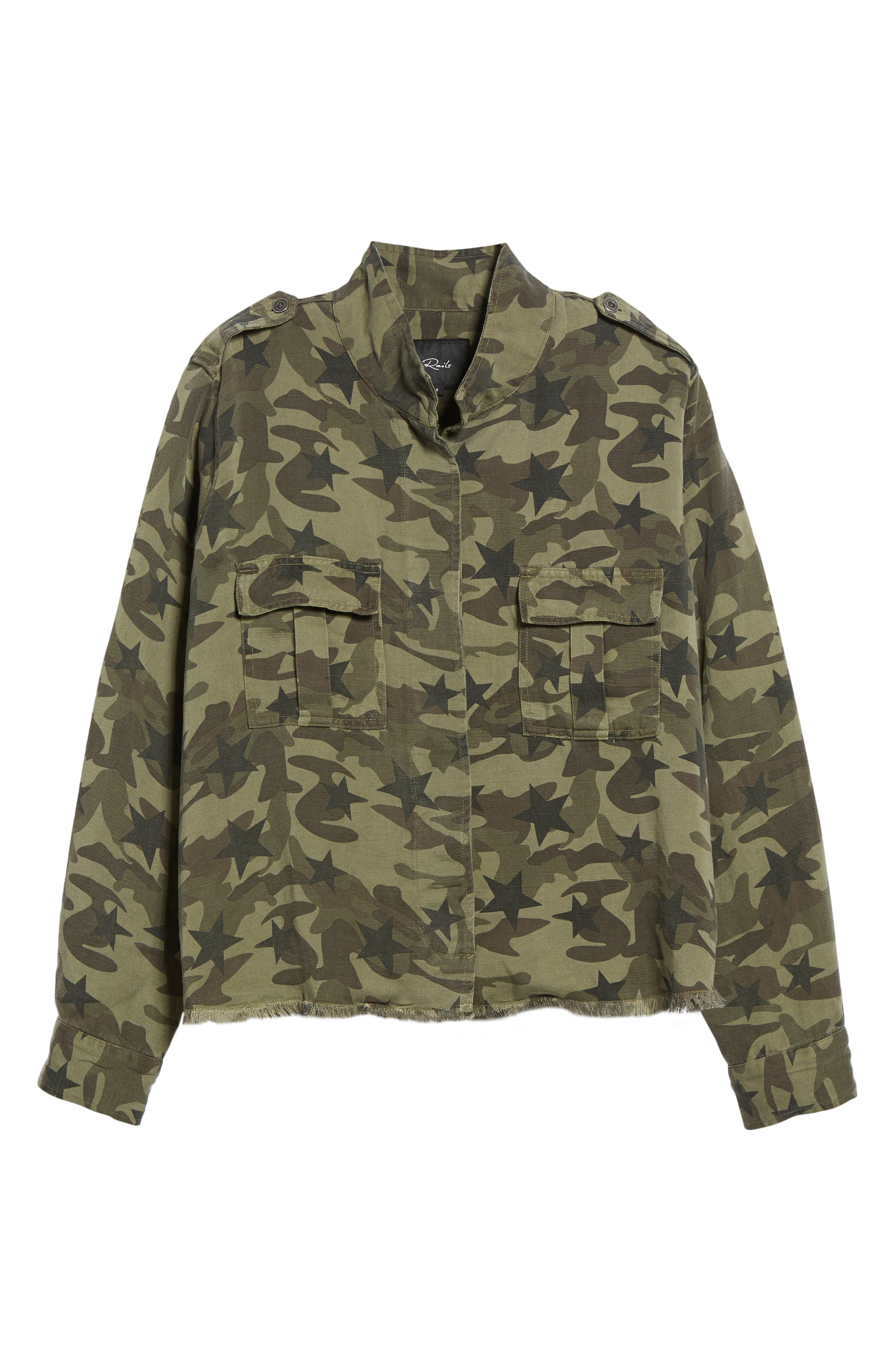 Hendrick Camo Military Jacket,                             Alternate thumbnail 5, color,                             303