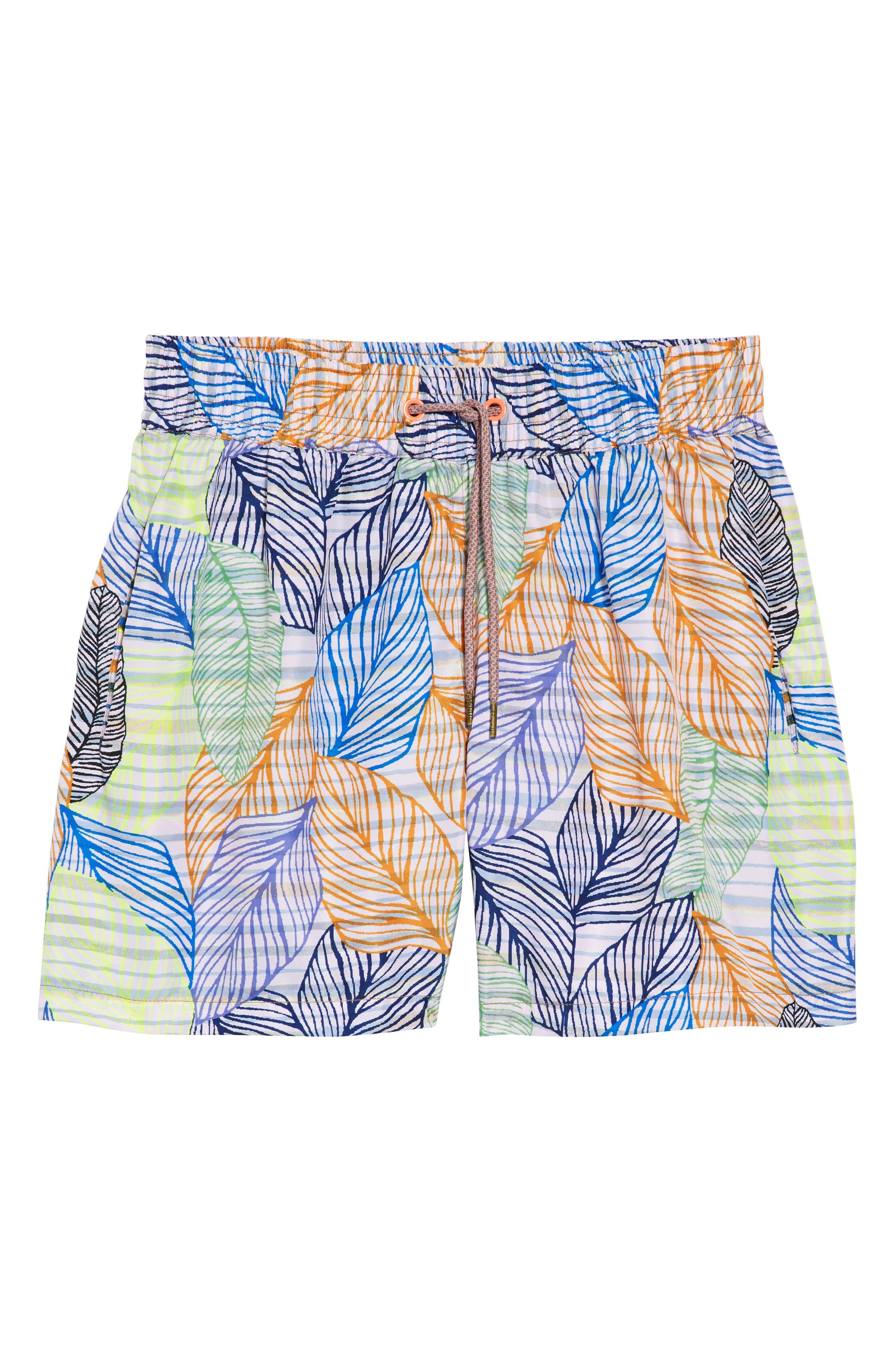 Blue Sky Reversible Swim Trunks,                             Alternate thumbnail 7, color,                             MULTICOLOR