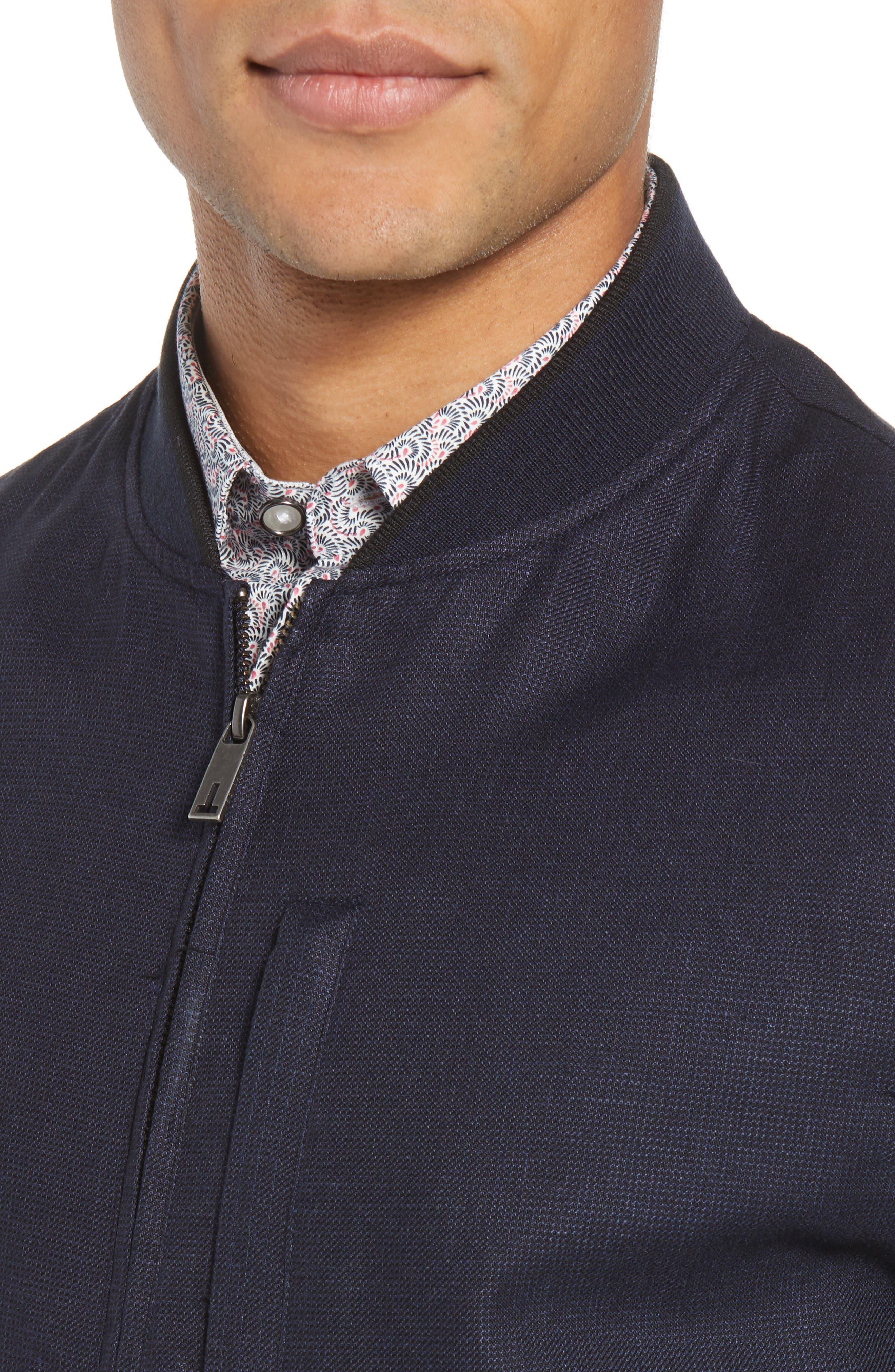 Raney Trim Fit Linen & Cotton Jacket,                             Alternate thumbnail 4, color,                             410