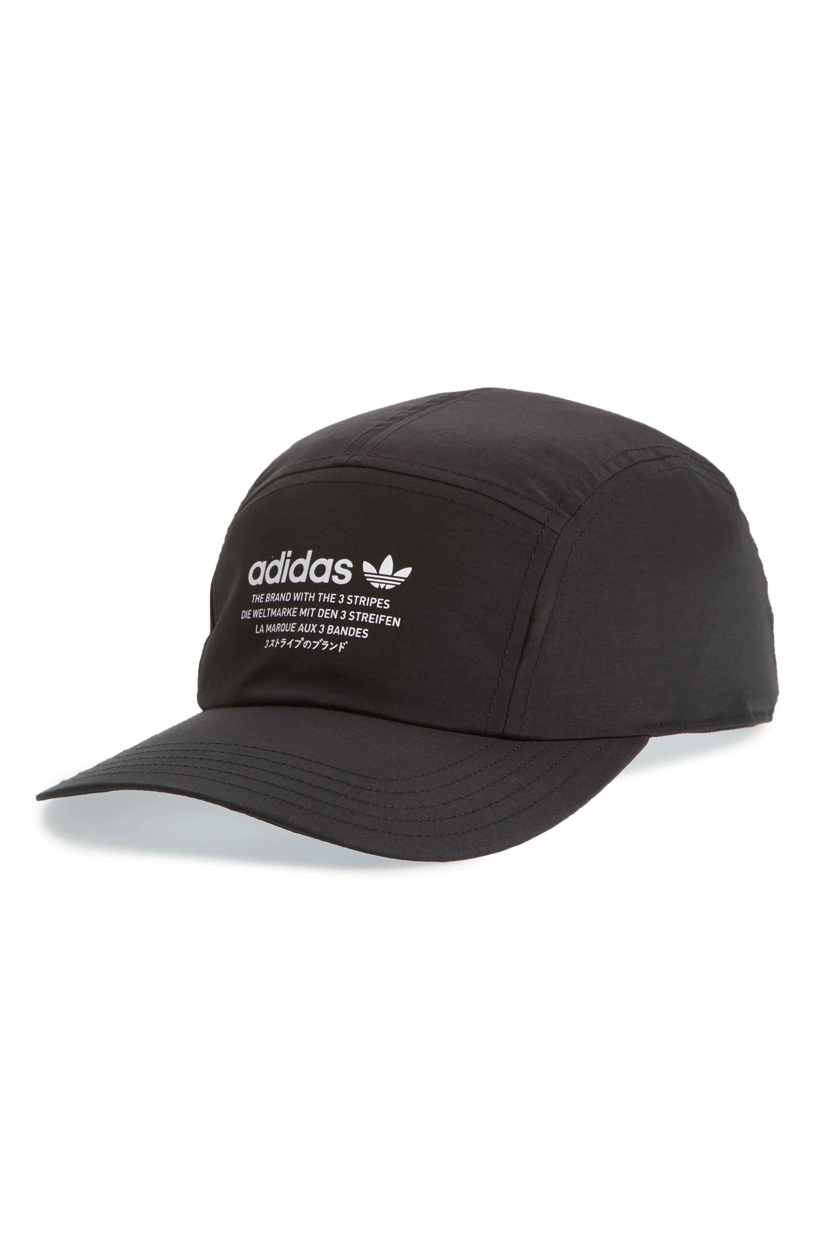 Logo Patch Baseball Cap,                         Main,                         color, BLACK/ WHITE