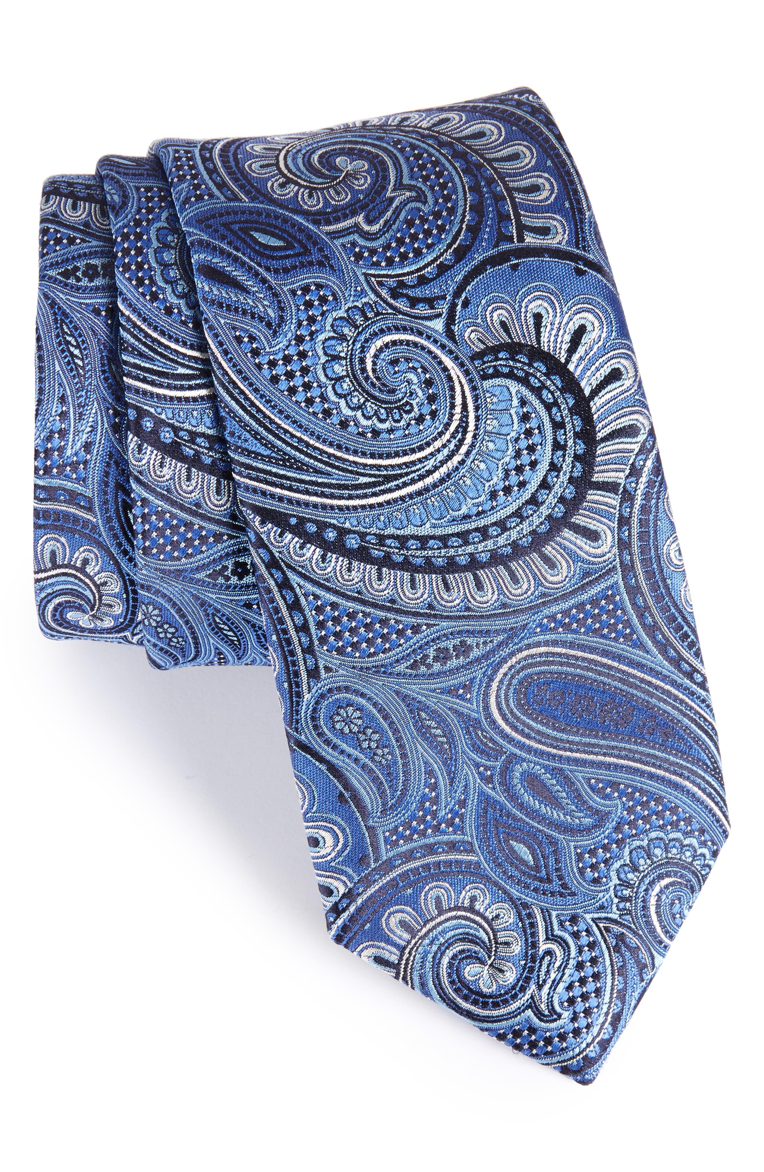 John W. Nordstrom Paisley Silk Tie,                             Main thumbnail 3, color,