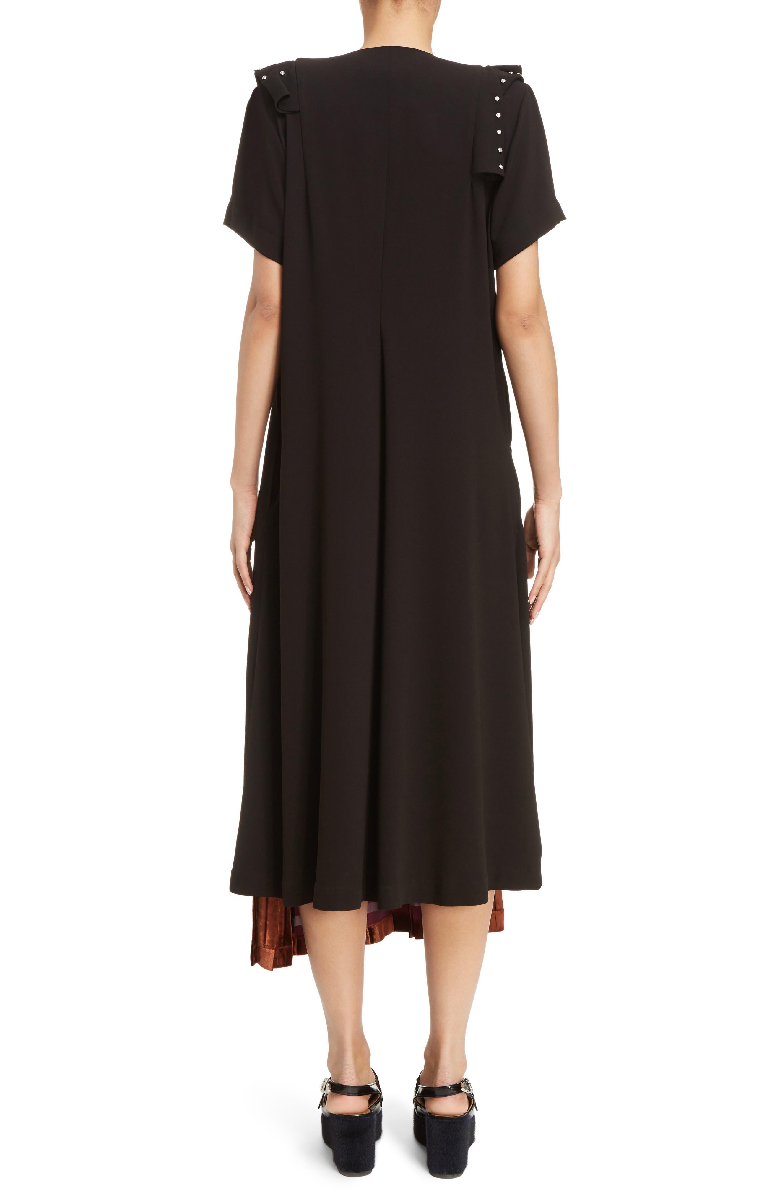 Georgette Faux Wrap Dress,                             Alternate thumbnail 2, color,                             001