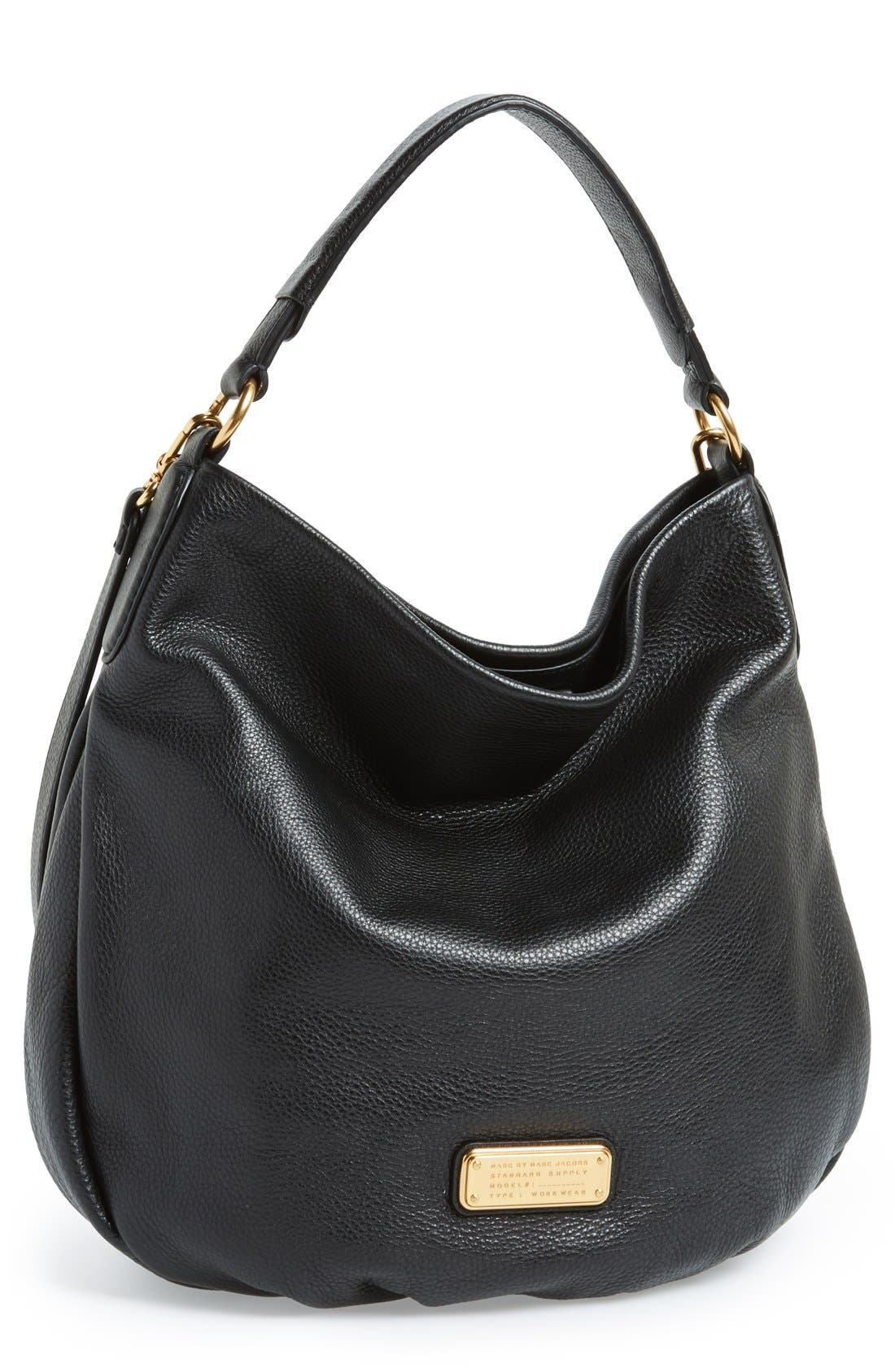 MARC BY MARC JACOBS 'New Q Hillier' Hobo,                             Main thumbnail 1, color,                             001