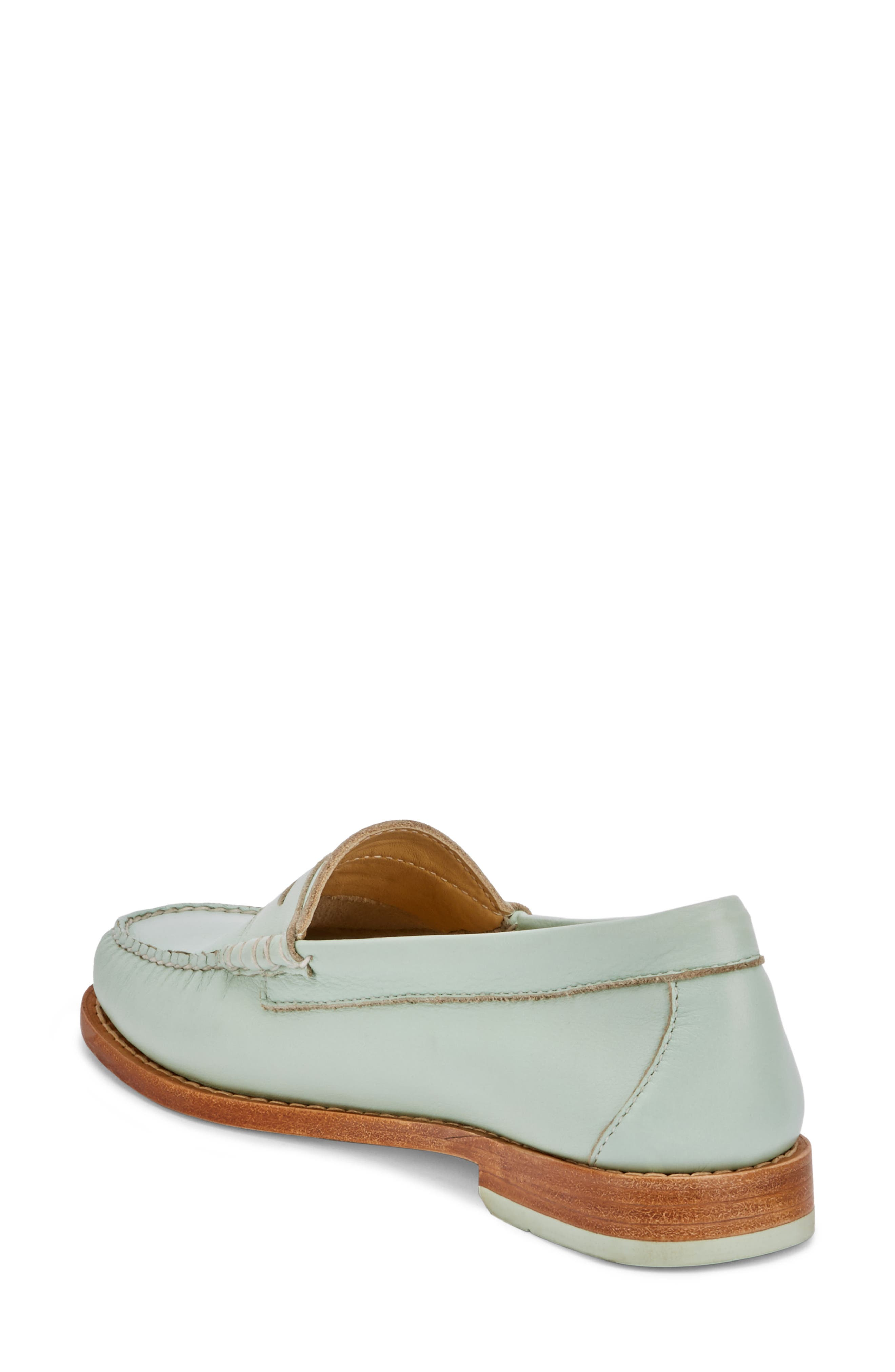 'Whitney' Loafer,                             Alternate thumbnail 2, color,                             MINT GREEN LEATHER