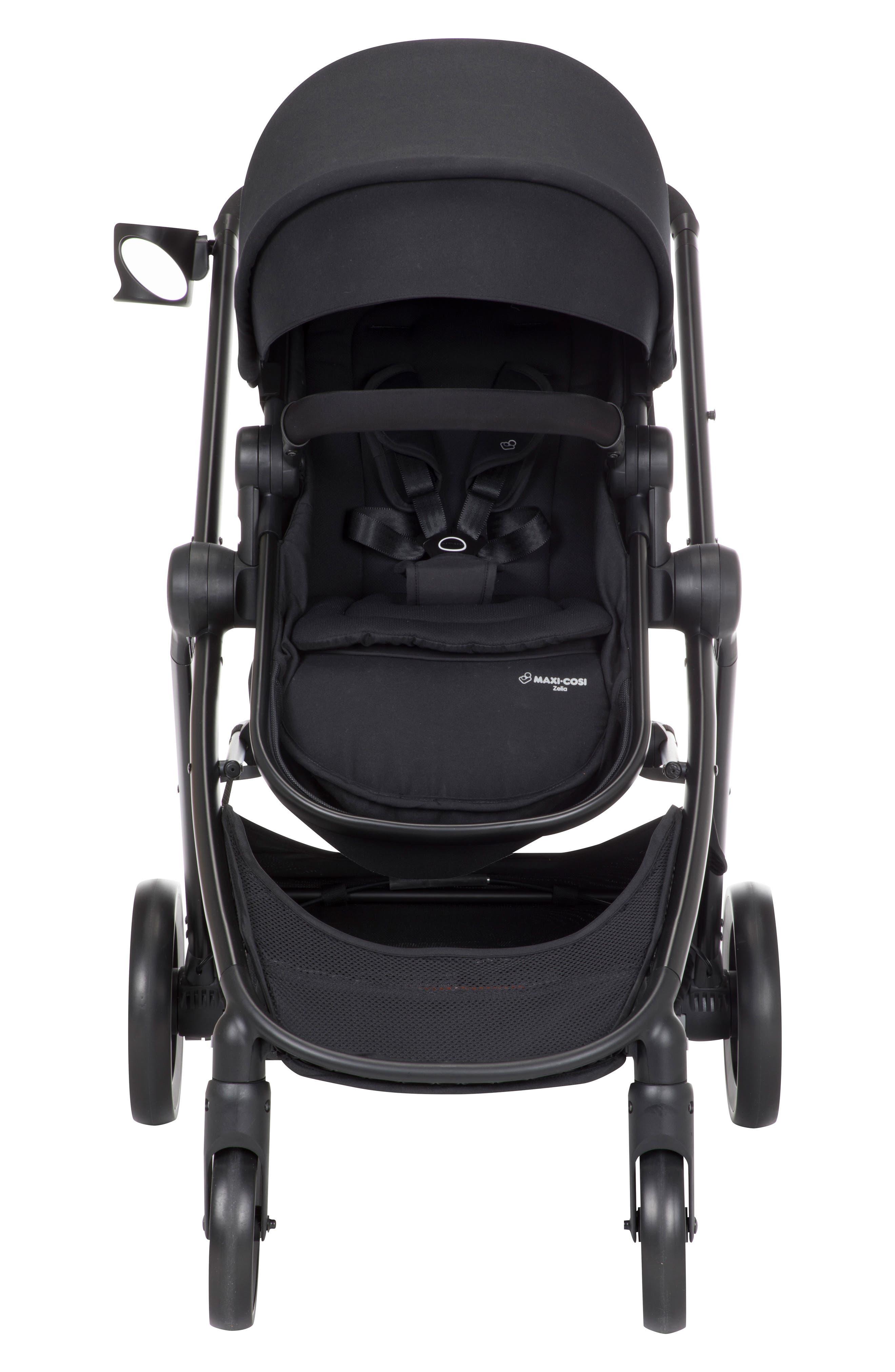 5-1 Mico 30 Infant Car Seat & Zelia Stroller Modular Travel System,                             Main thumbnail 1, color,                             NIGHT BLACK