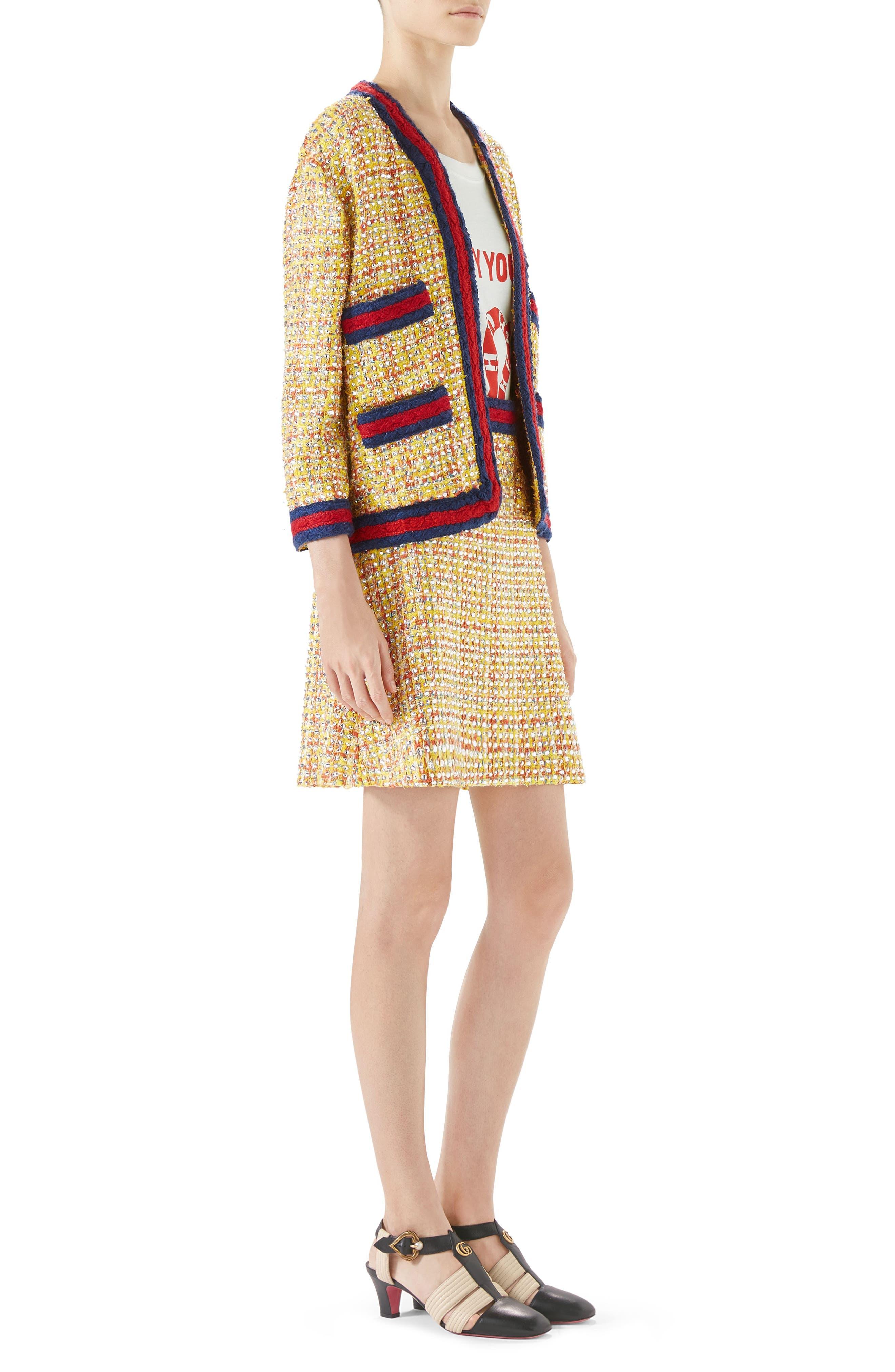 Crystal Tweed Jacket,                             Alternate thumbnail 3, color,                             767