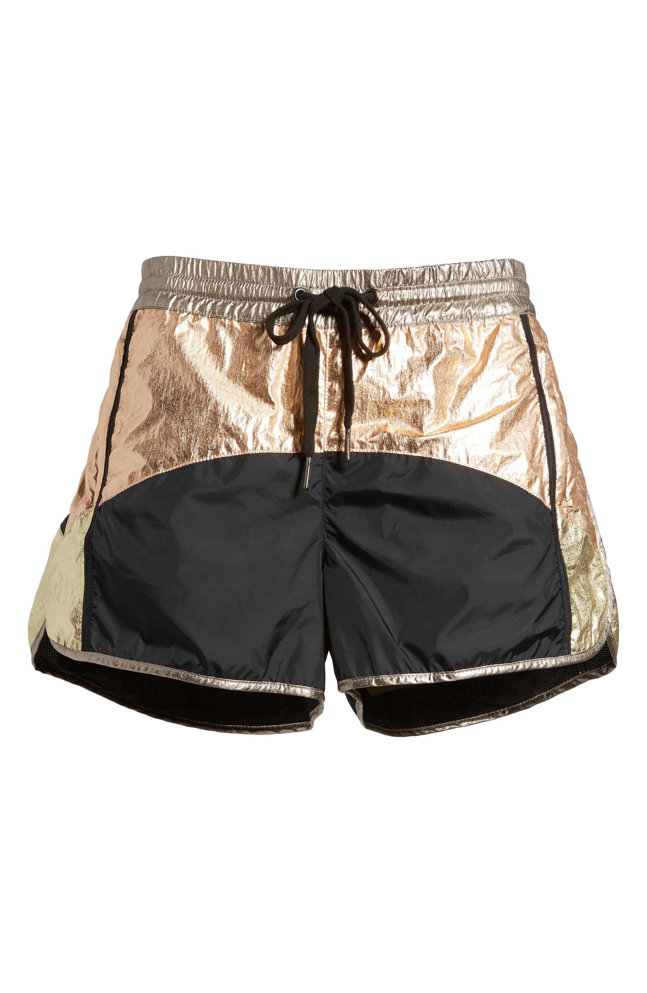 Colorblock Shorts,                             Alternate thumbnail 6, color,                             BLACK