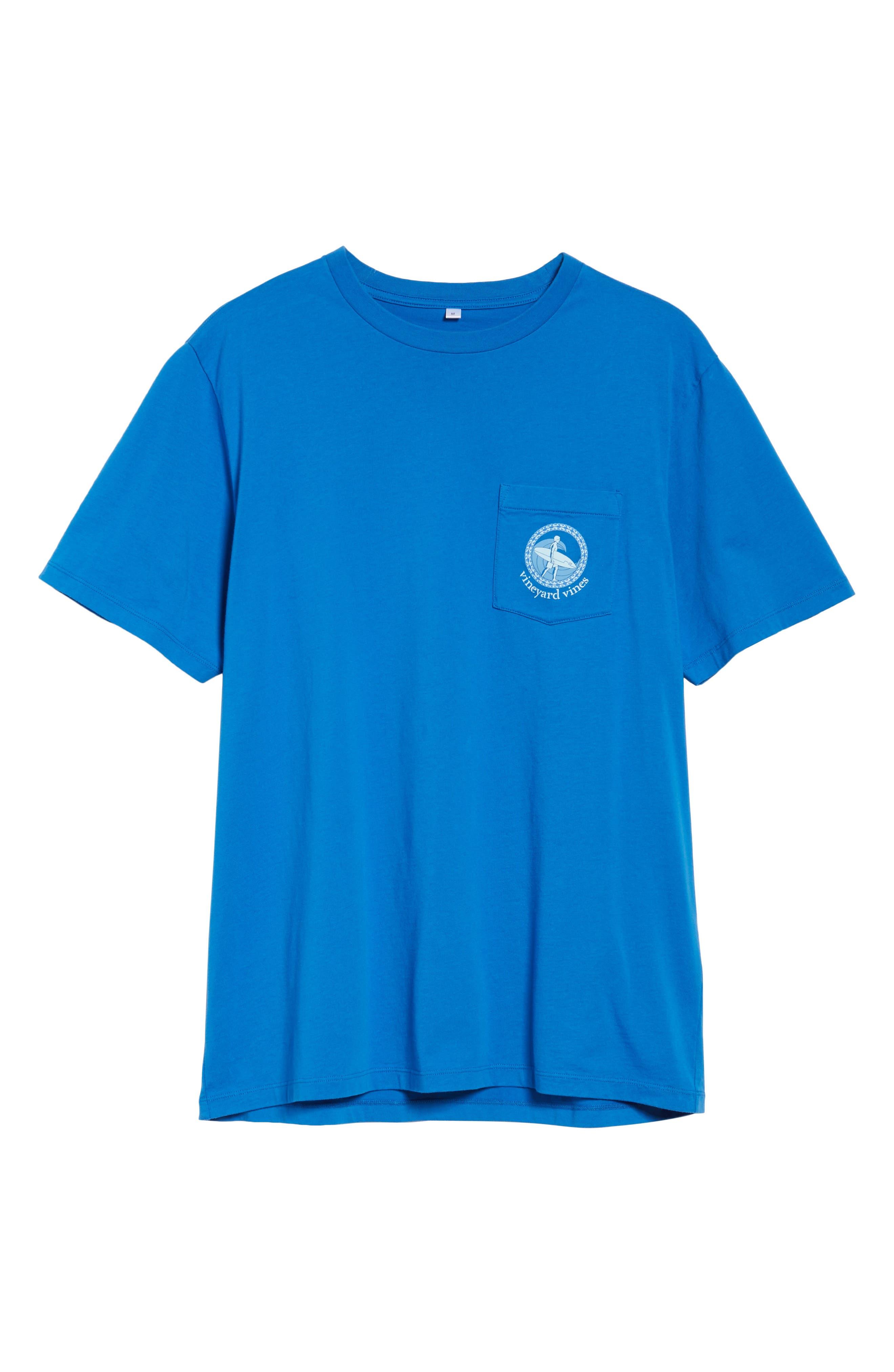 Surf Wave Graphic Pocket T-Shirt,                             Alternate thumbnail 6, color,                             427