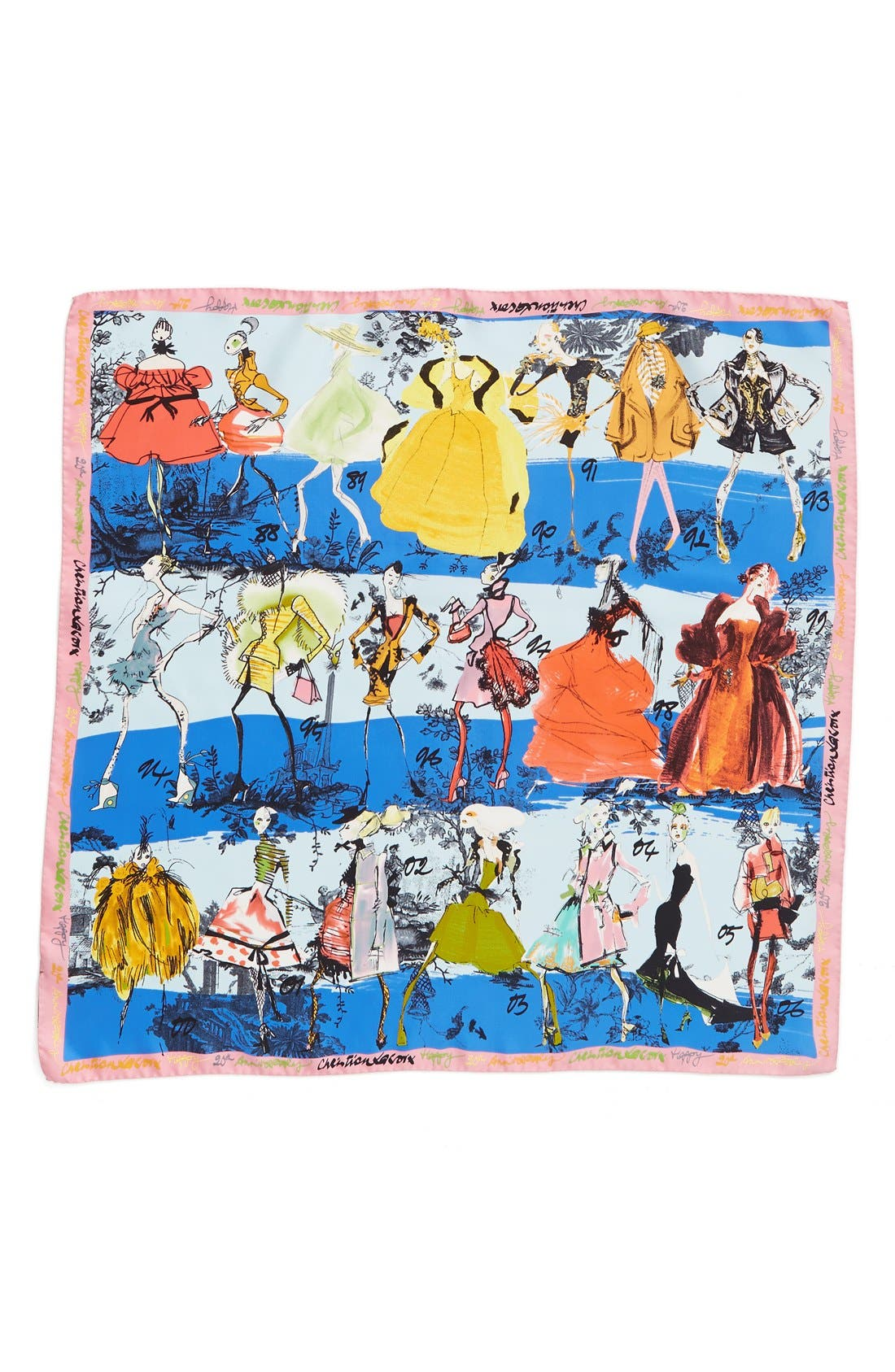 '20 Ans' Square Silk Scarf,                             Alternate thumbnail 17, color,