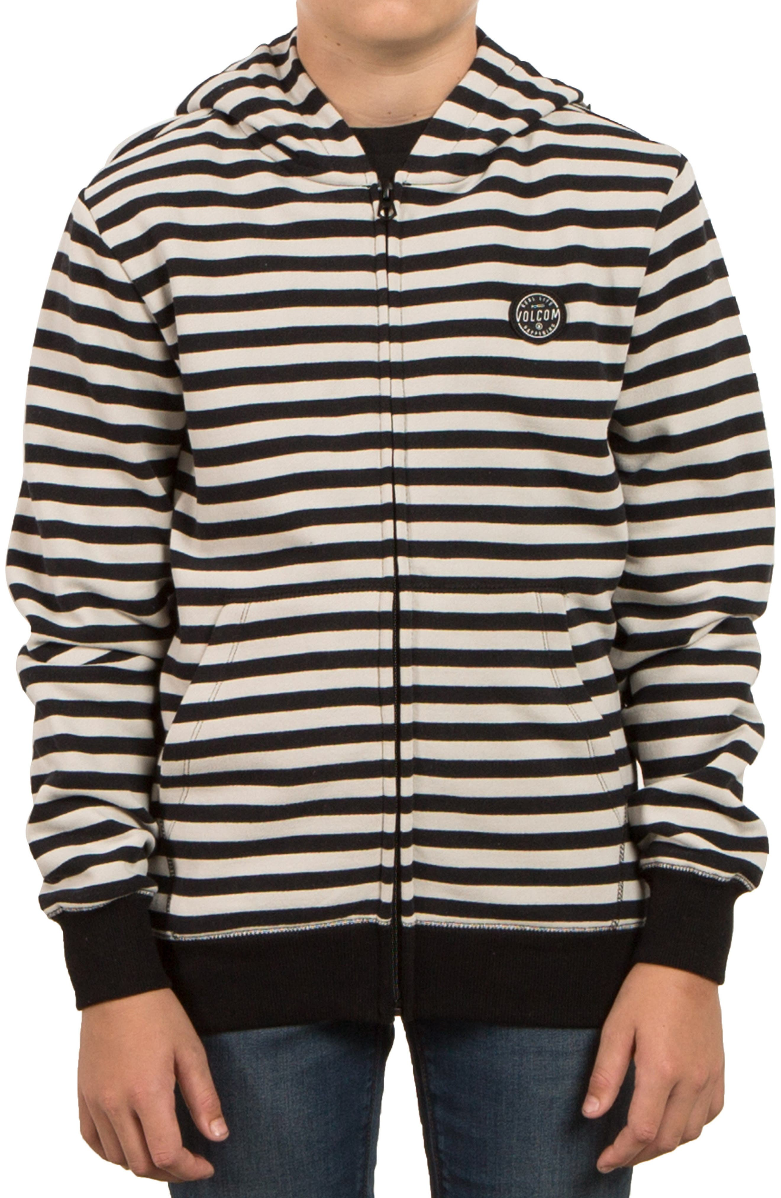 Kraystone Stripe Zip Hoodie,                         Main,                         color, 001