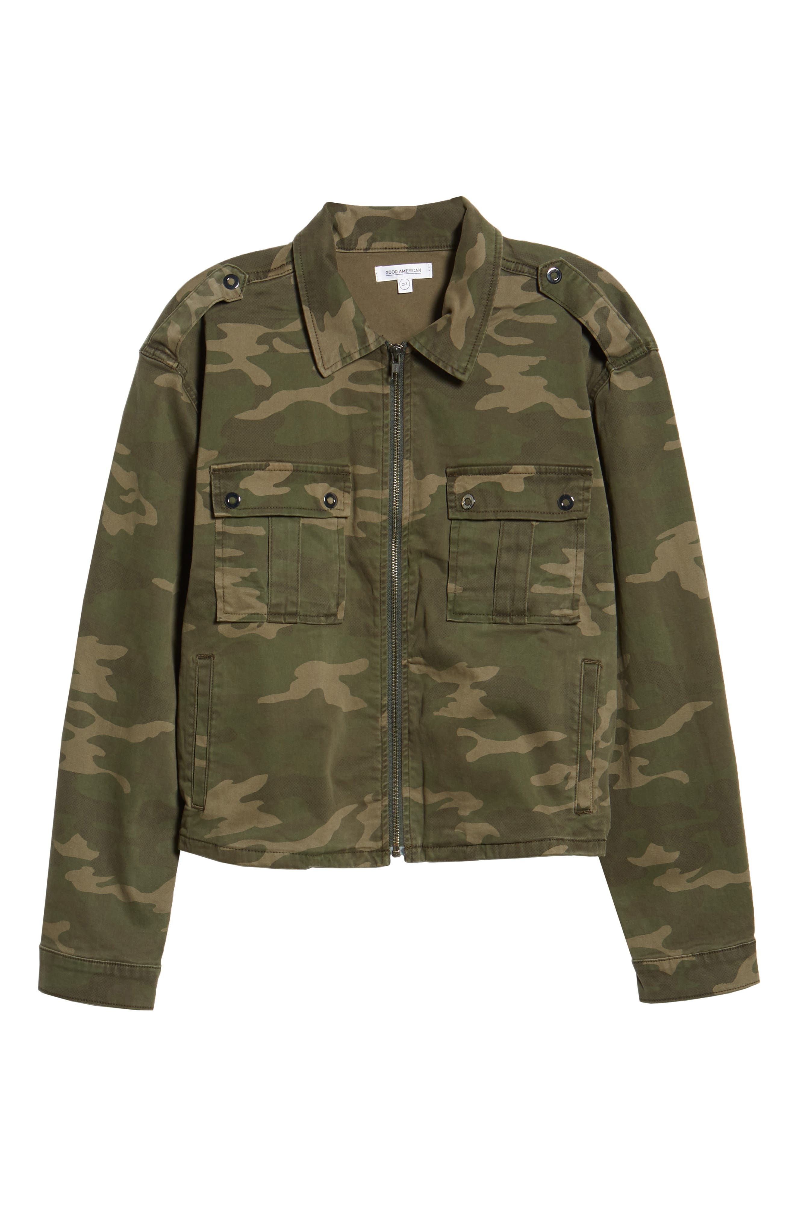 Camo Print Military Jacket,                             Alternate thumbnail 4, color,                             301