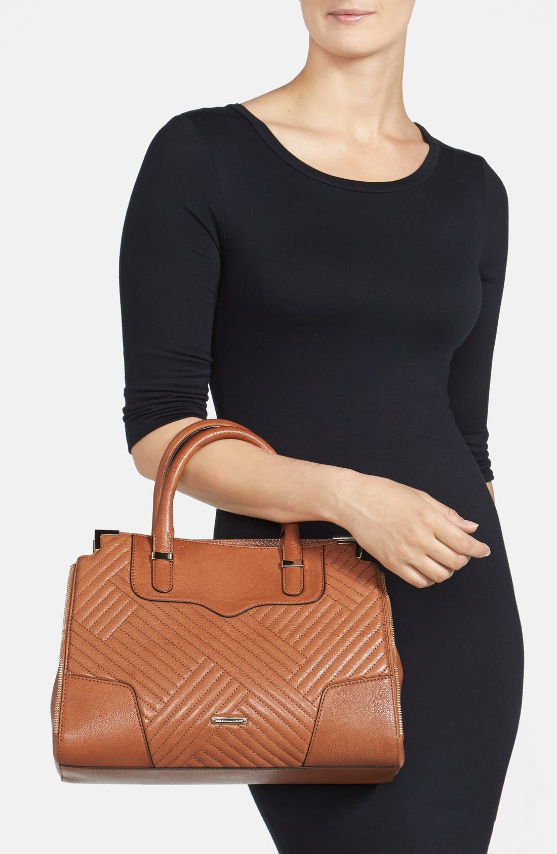 'Amorous' Quilted Satchel,                             Alternate thumbnail 5, color,
