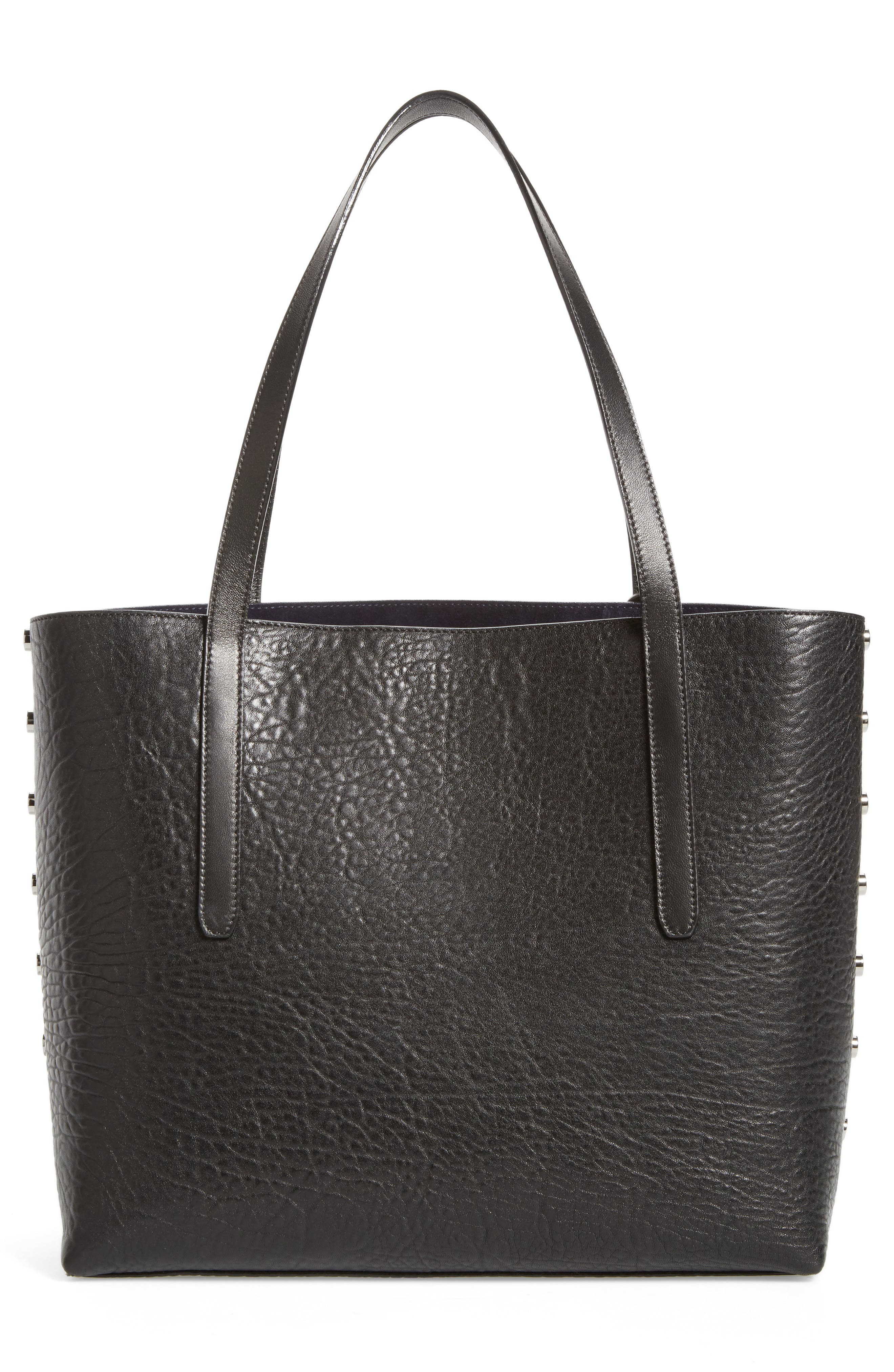 Twist East West Leather Tote,                             Alternate thumbnail 3, color,                             415