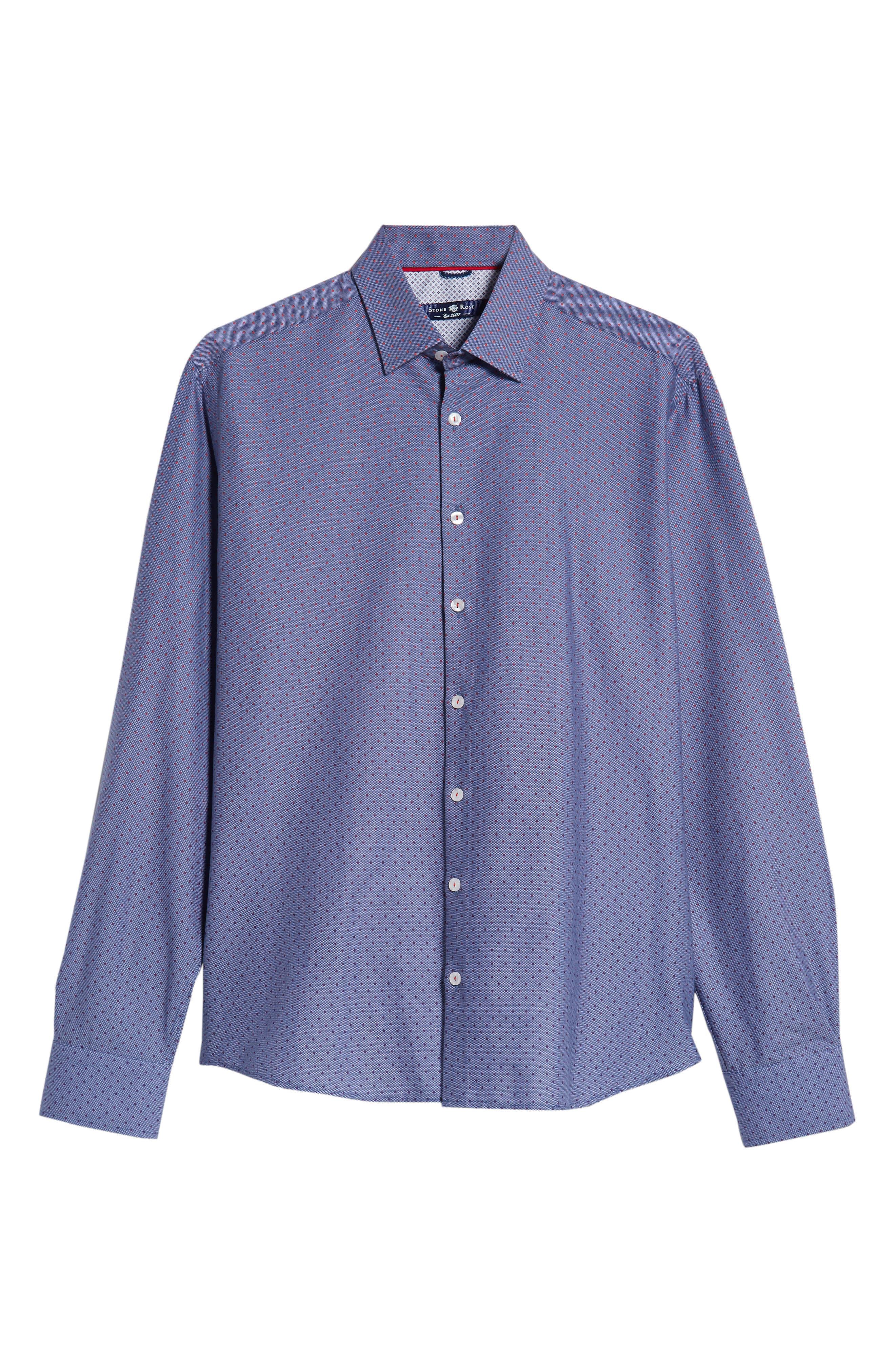 STONE ROSE,                             Gradient Dot Regular Fit Sport Shirt,                             Alternate thumbnail 5, color,                             400