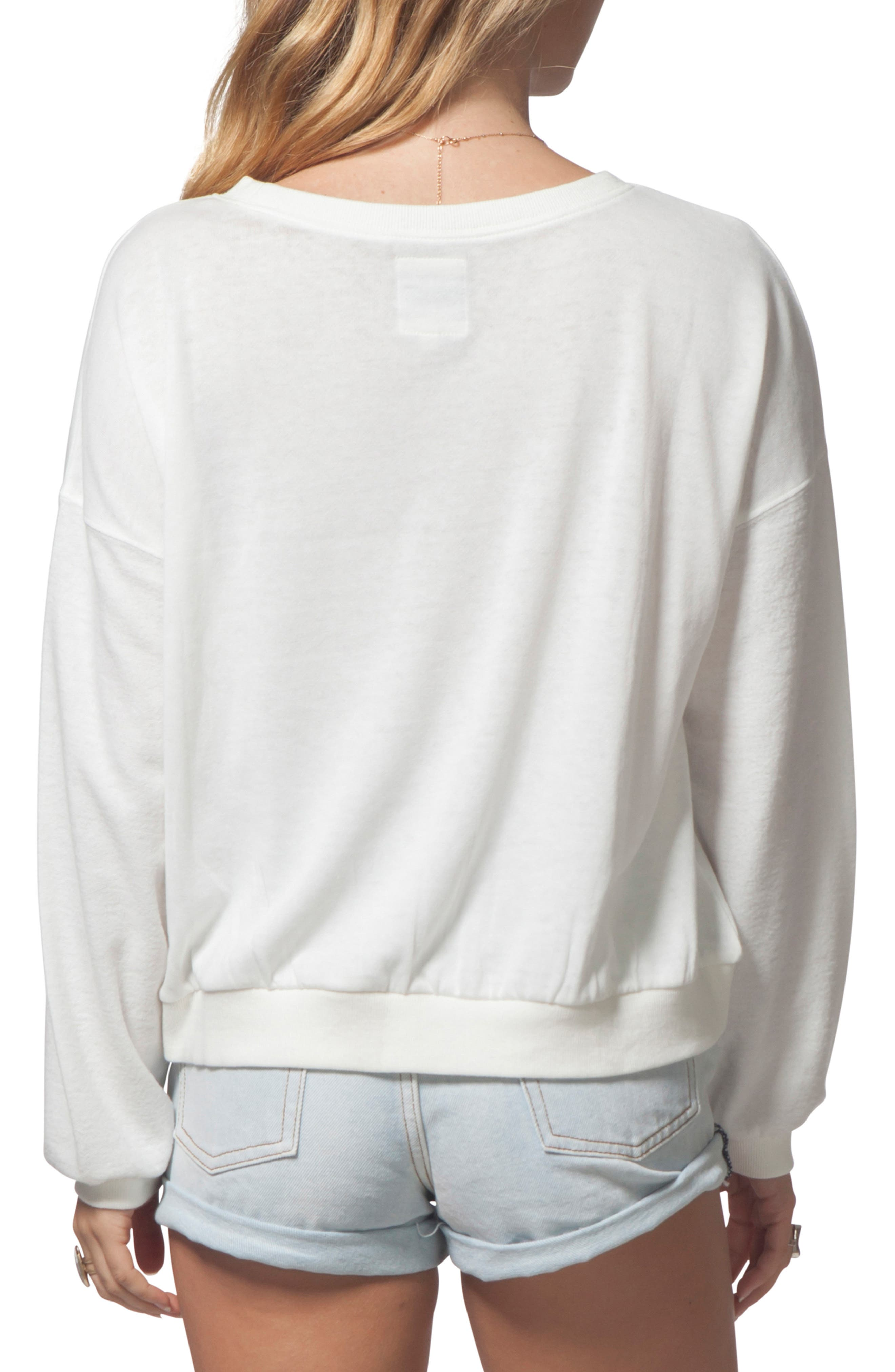 Search Vibes Crop Sweatshirt,                             Alternate thumbnail 2, color,                             VANILLA