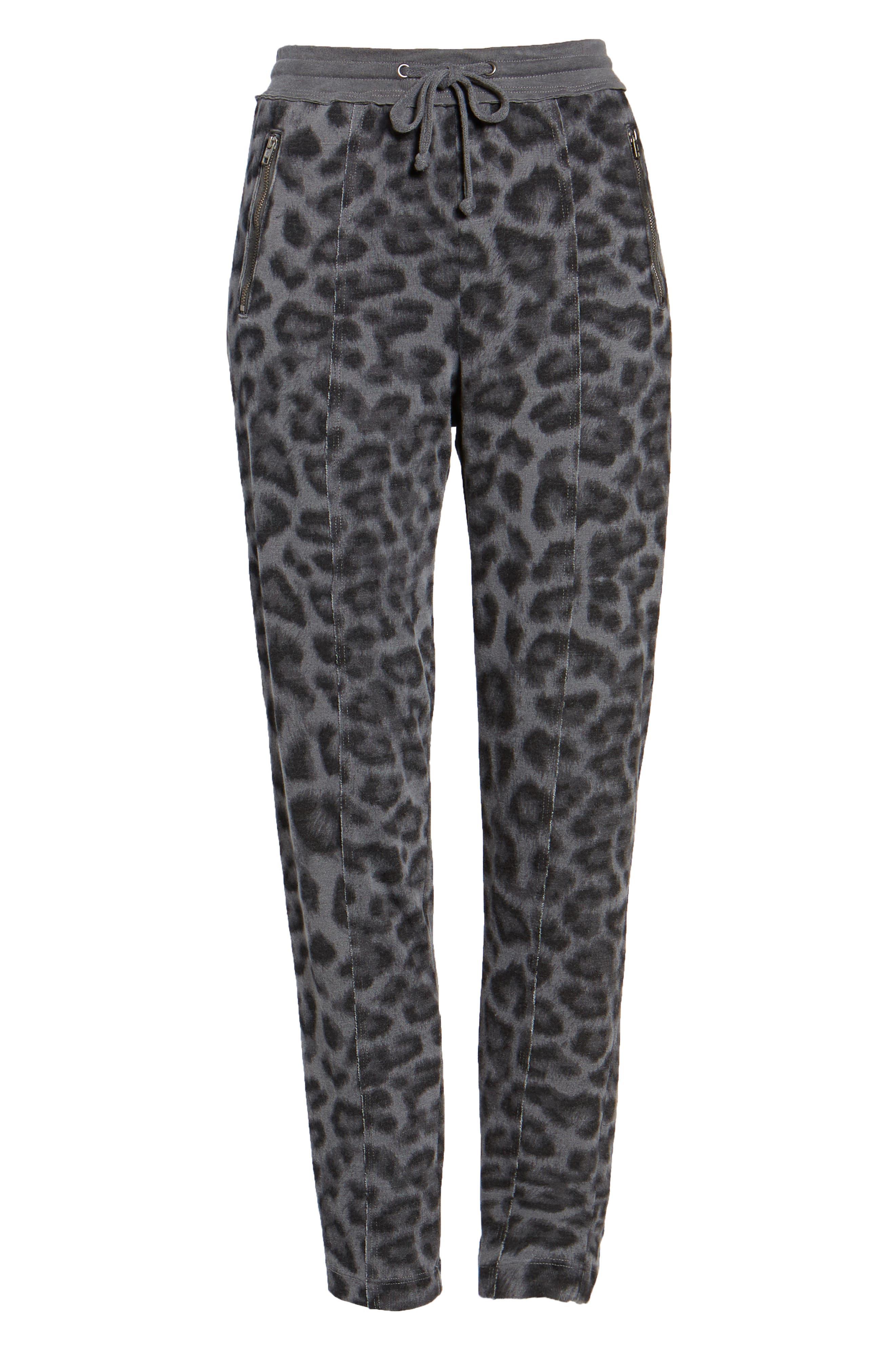 Leopard Print Jogger Pants,                             Alternate thumbnail 6, color,                             032