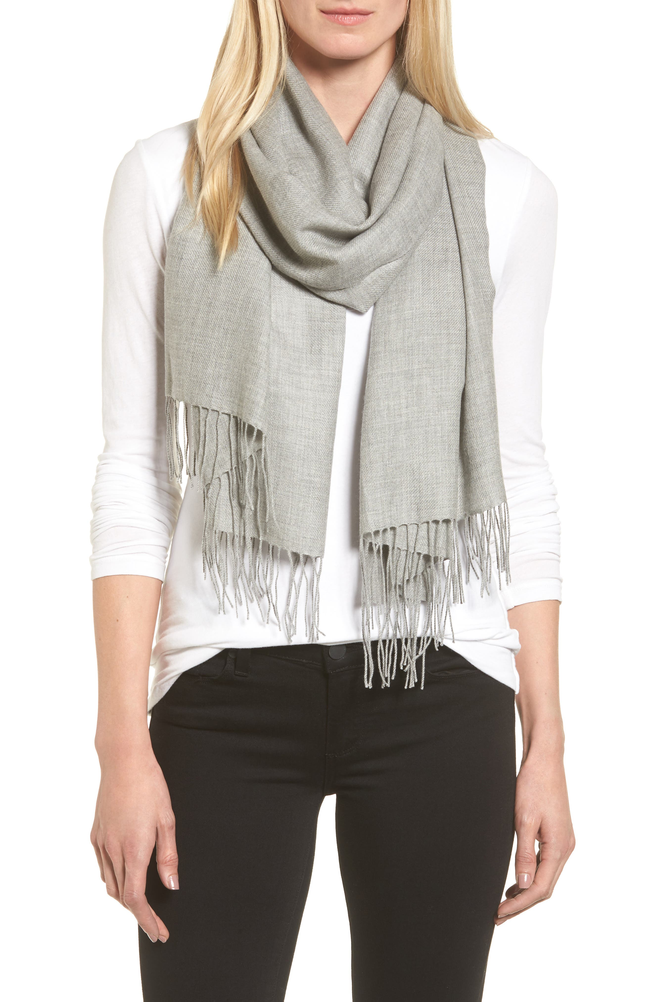 Tissue Weight Wool & Cashmere Scarf,                             Main thumbnail 13, color,