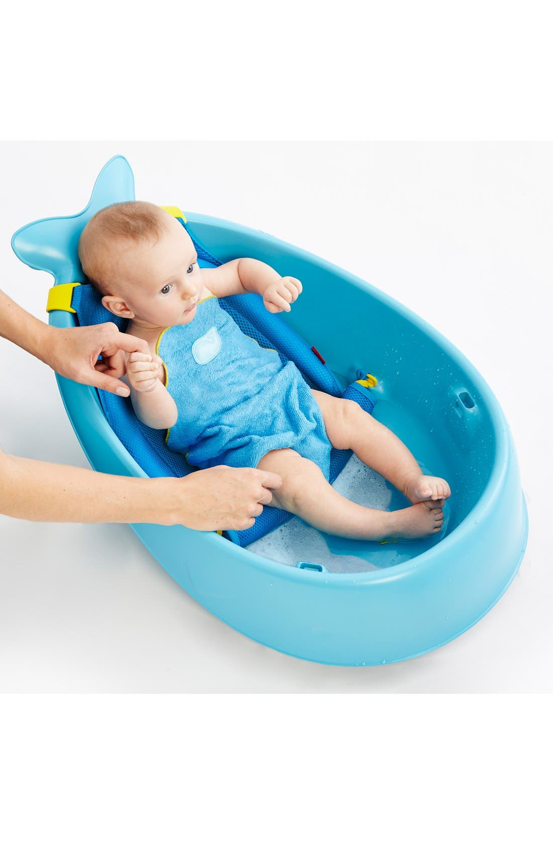 'Moby Smart Sling' Three-Stage Tub,                             Alternate thumbnail 3, color,                             BLUE