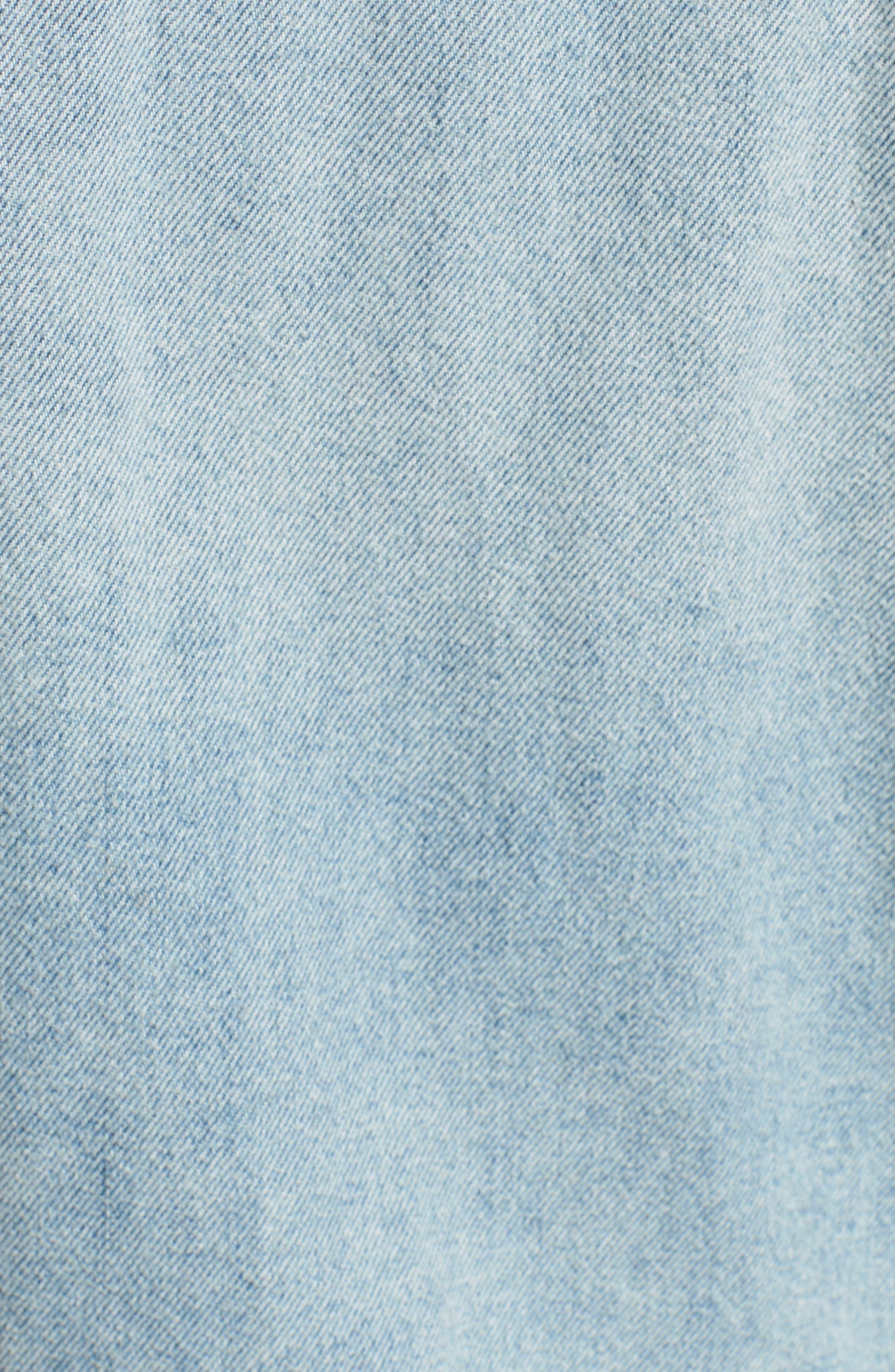 Rei Distressed Crop Denim Jacket,                             Alternate thumbnail 7, color,                             453