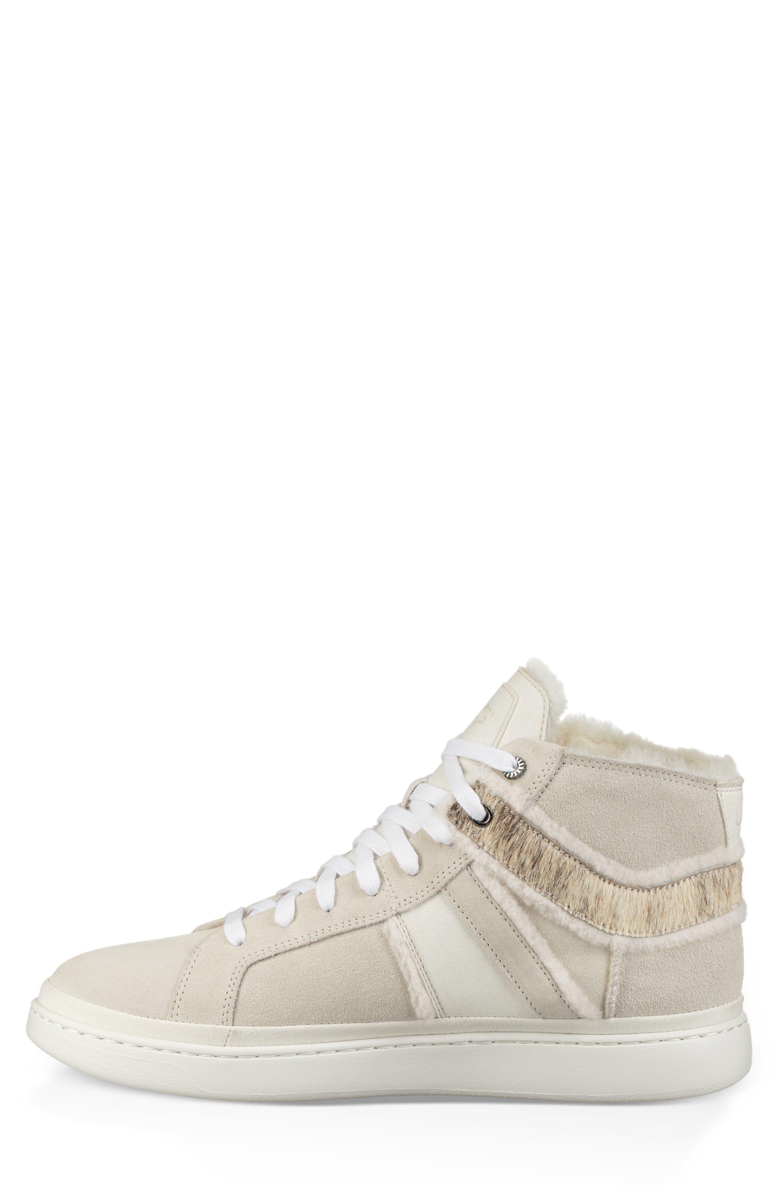 Cali High Top Sneaker,                             Alternate thumbnail 3, color,                             WHITE