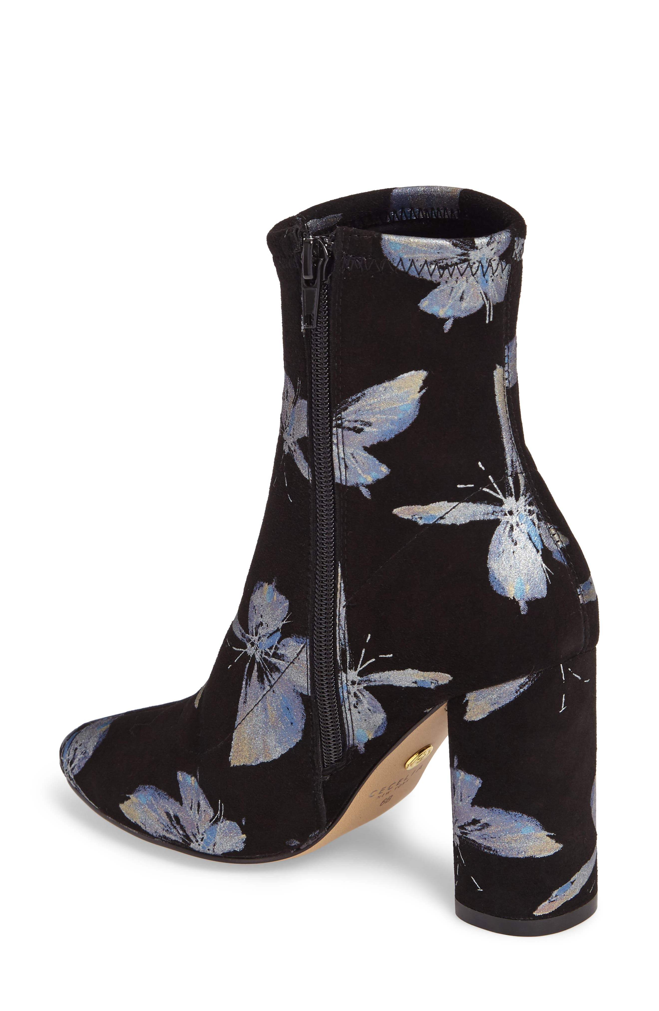 Fredda Butterfly Sock Bootie,                             Alternate thumbnail 2, color,                             001