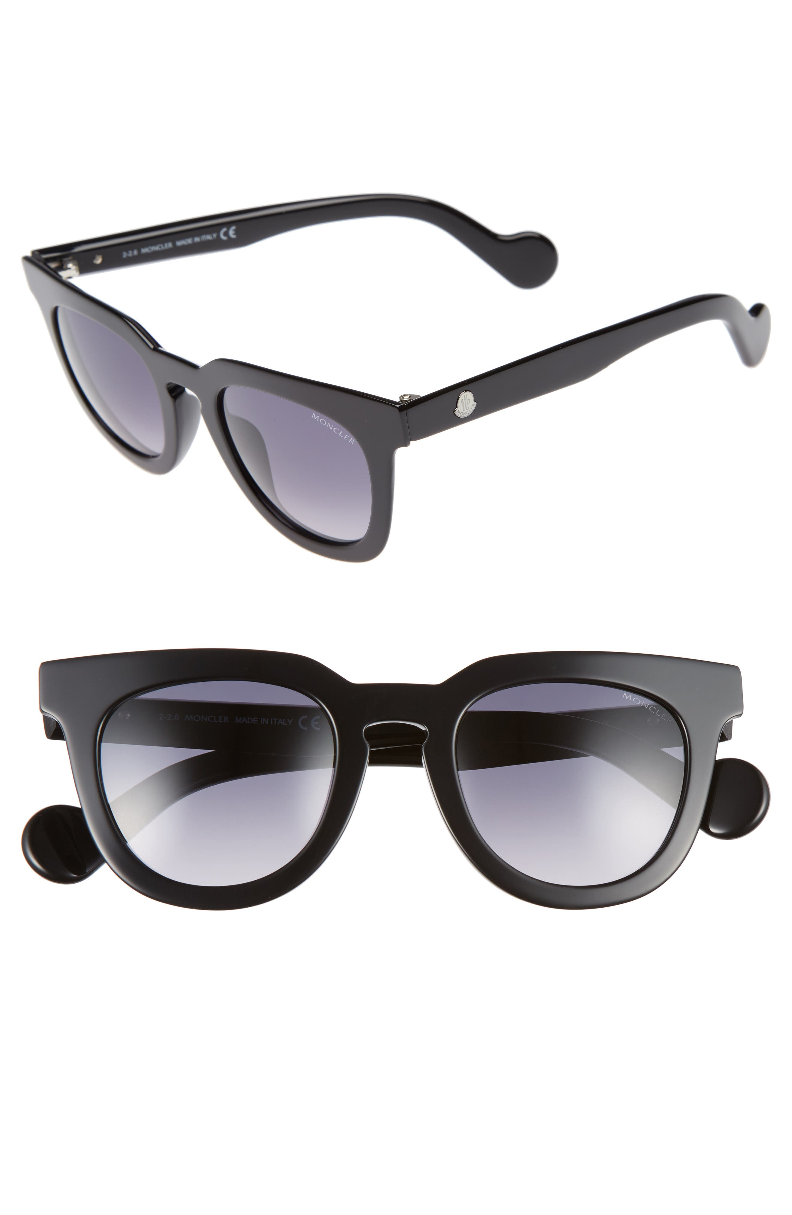 48mm Retro Sunglasses,                         Main,                         color, 001