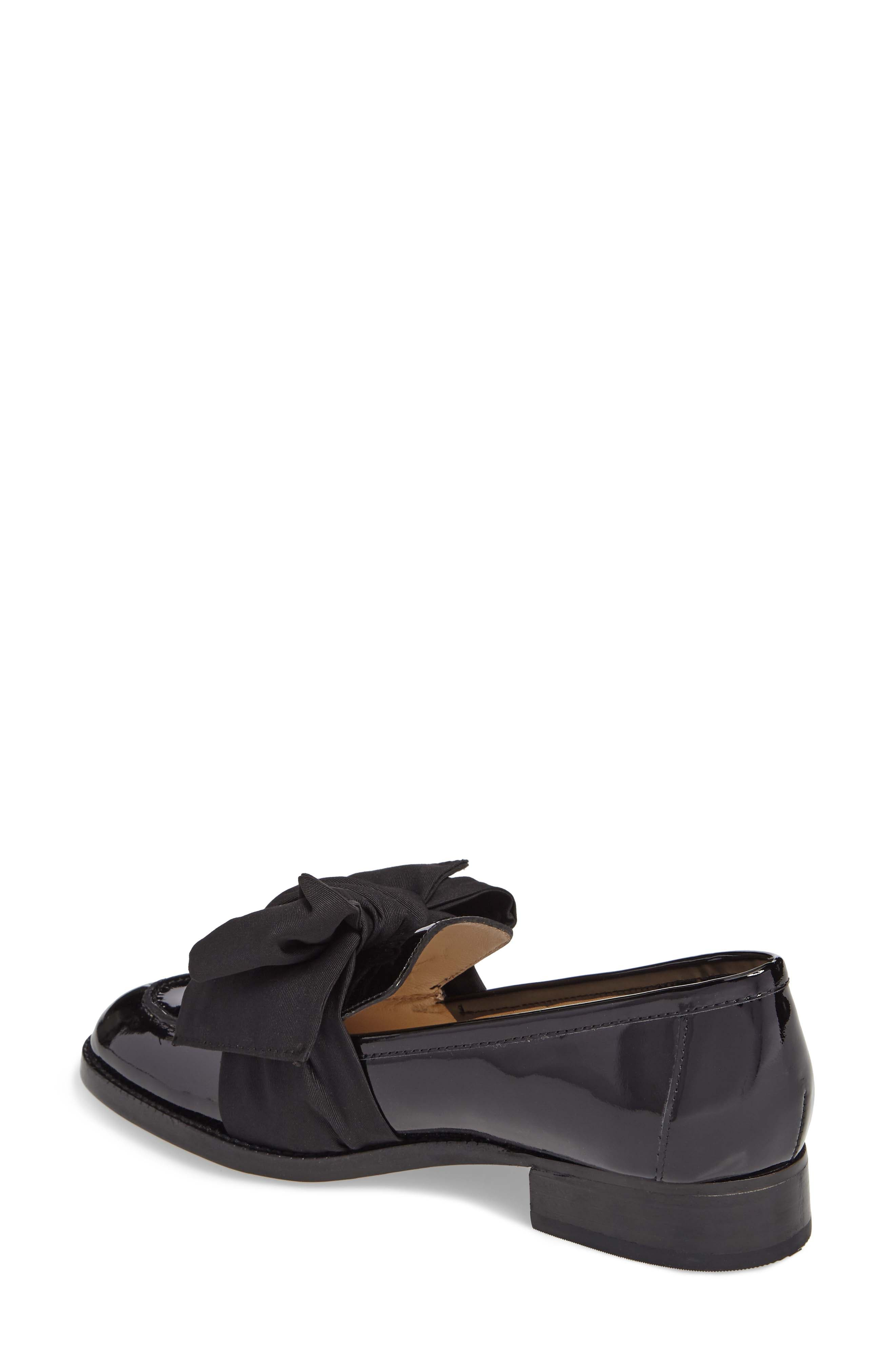 BOTKIER,                             Violet Bow Loafer,                             Alternate thumbnail 2, color,                             BLACK PATENT LEATHER