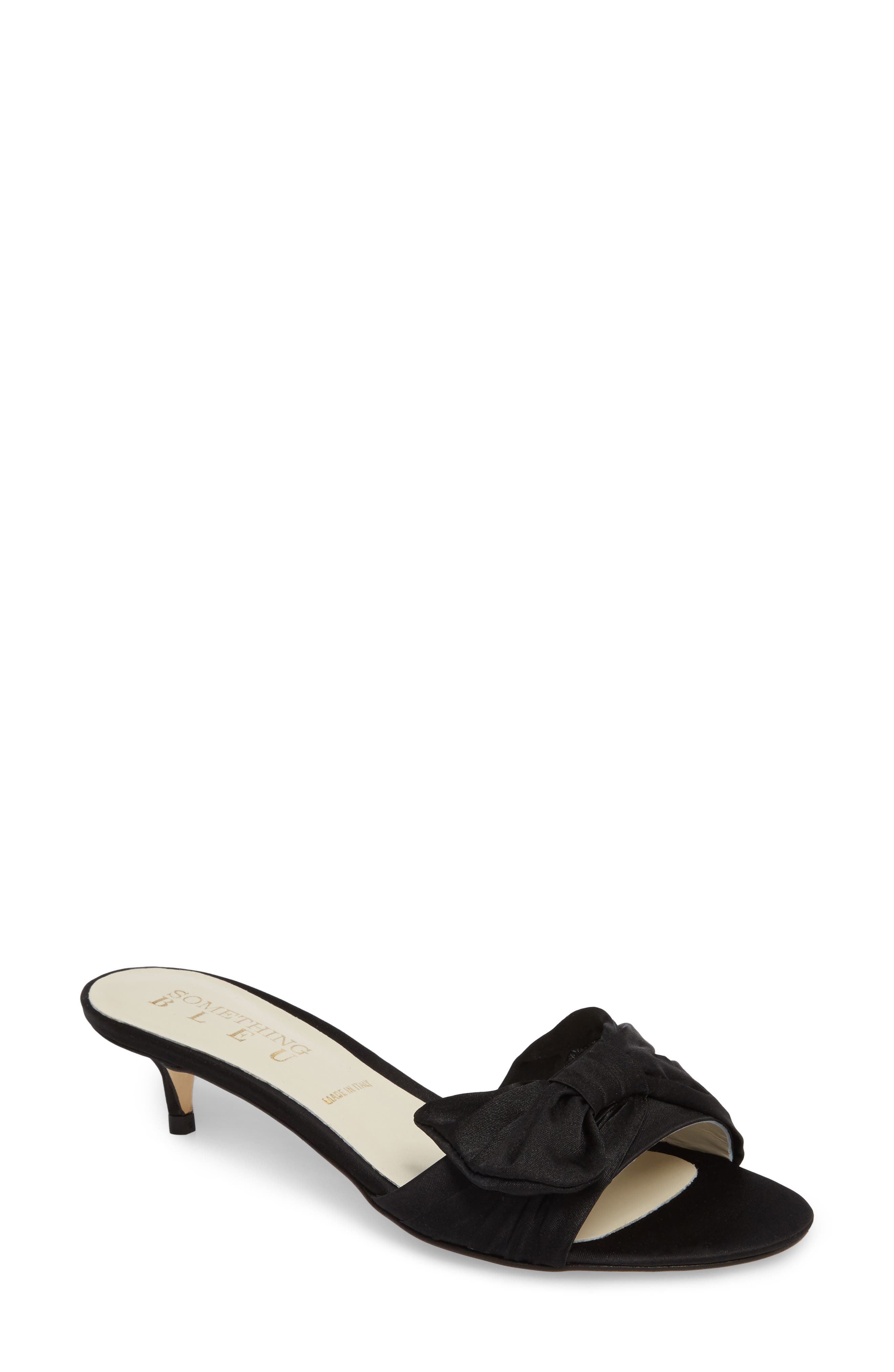 SOMETHING BLEU,                             Butterfly Bow Mule,                             Main thumbnail 1, color,                             001