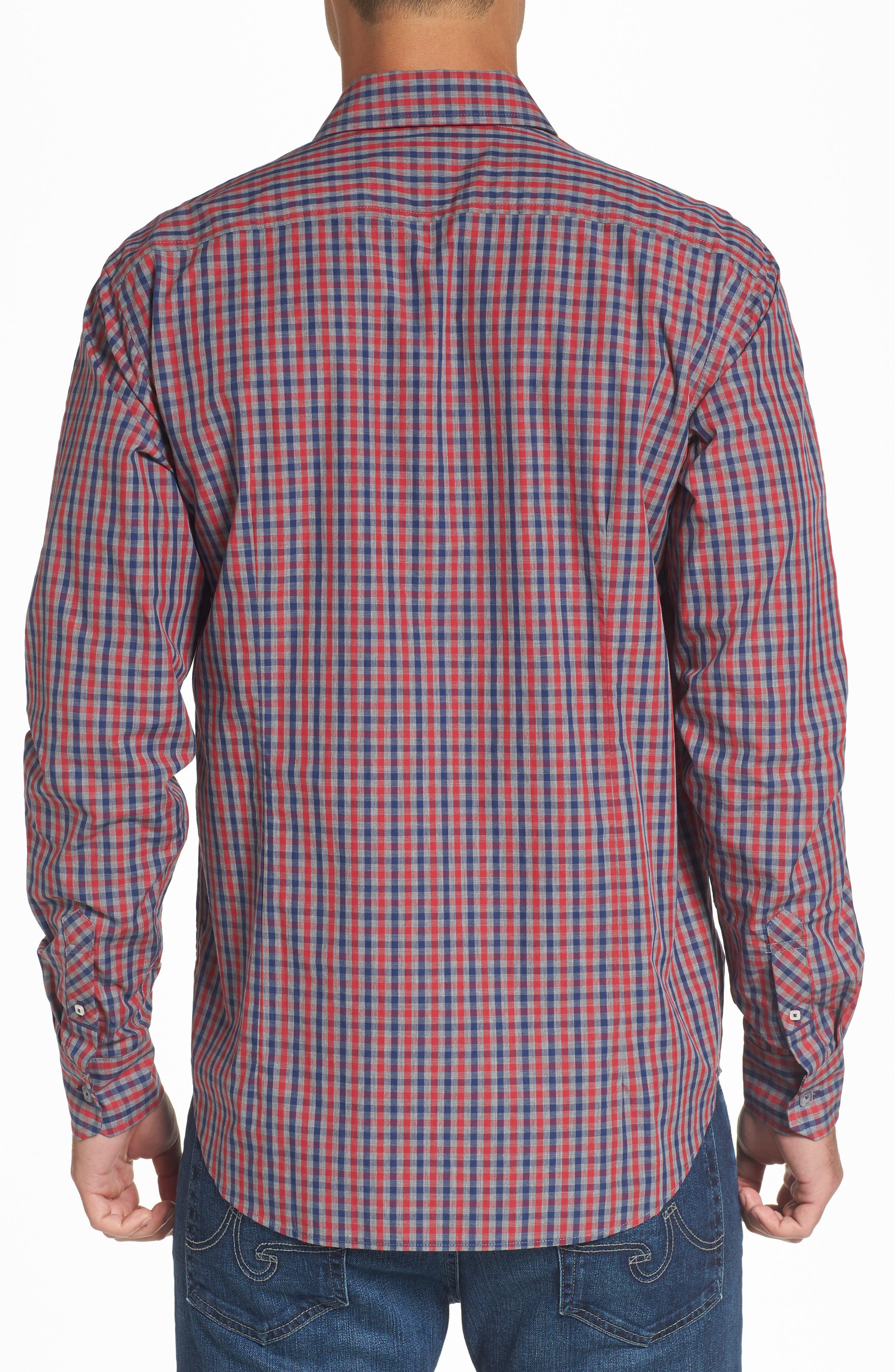 Comfort Fit Check Sport Shirt,                             Alternate thumbnail 2, color,