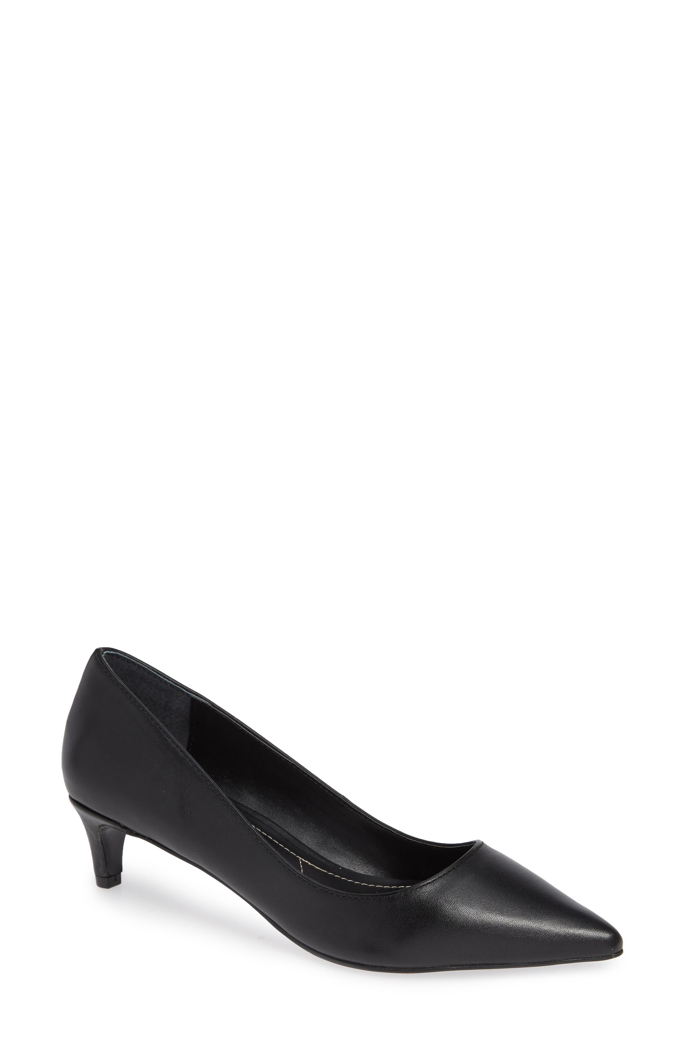 Kitten Pointy Toe Pump,                             Main thumbnail 1, color,                             BLACK