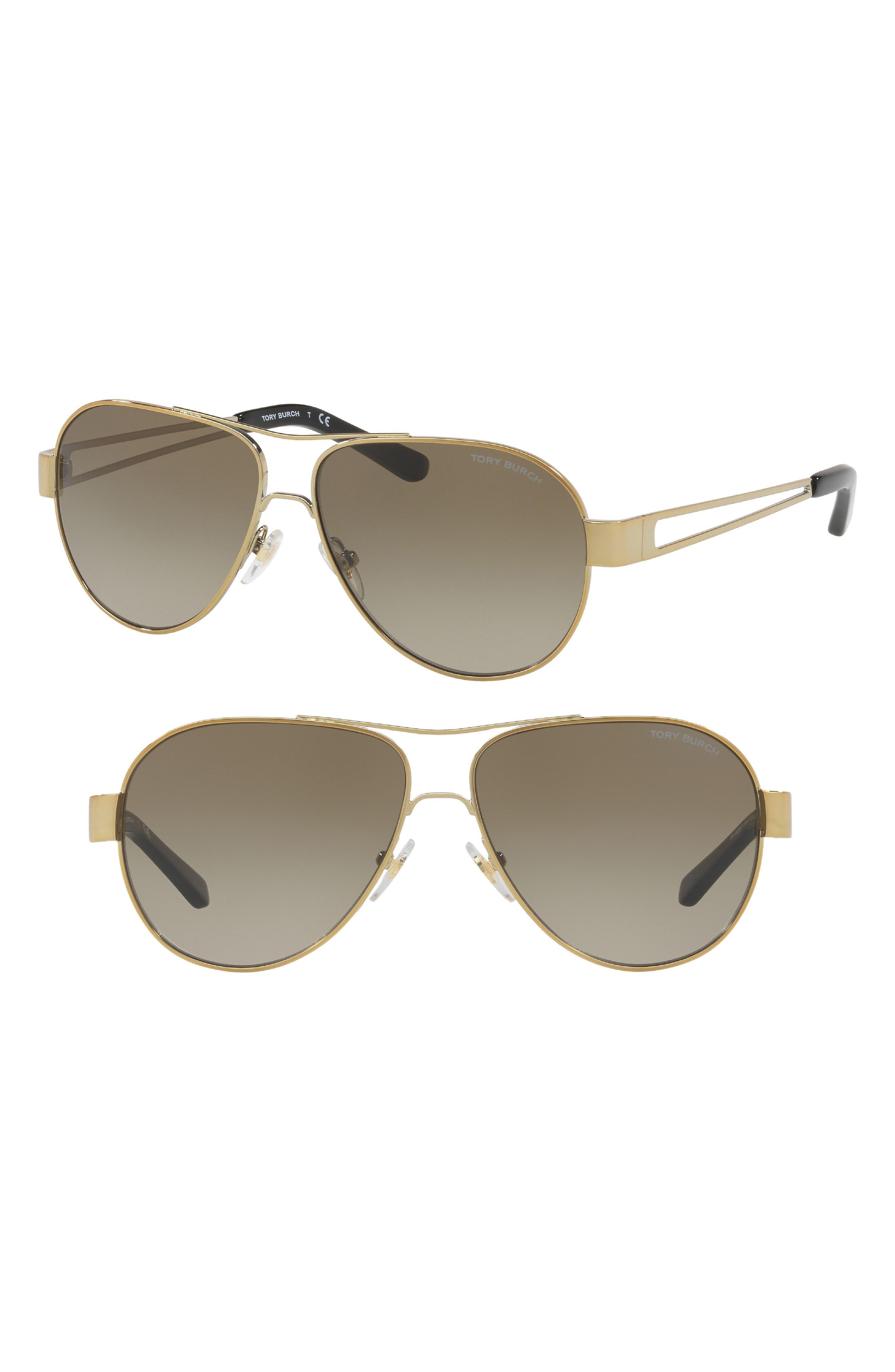 55mm Polarized Aviator Sunglasses,                             Alternate thumbnail 11, color,