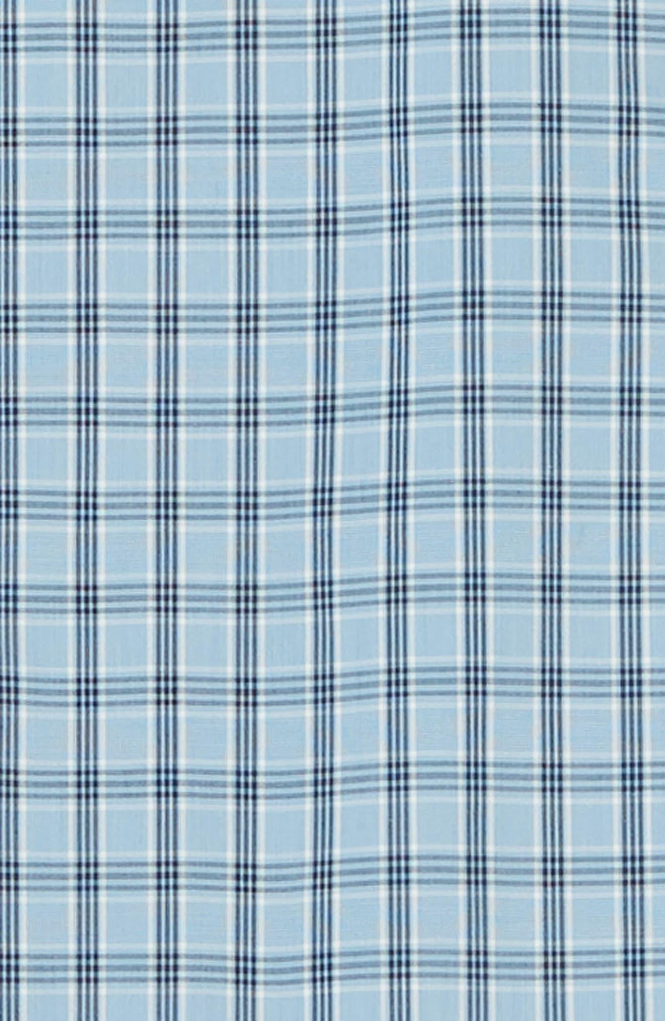 Tech-Smart Slim Fit Plaid Sport Shirt,                             Alternate thumbnail 6, color,                             BLUE HEAVEN HEATHER CHECK